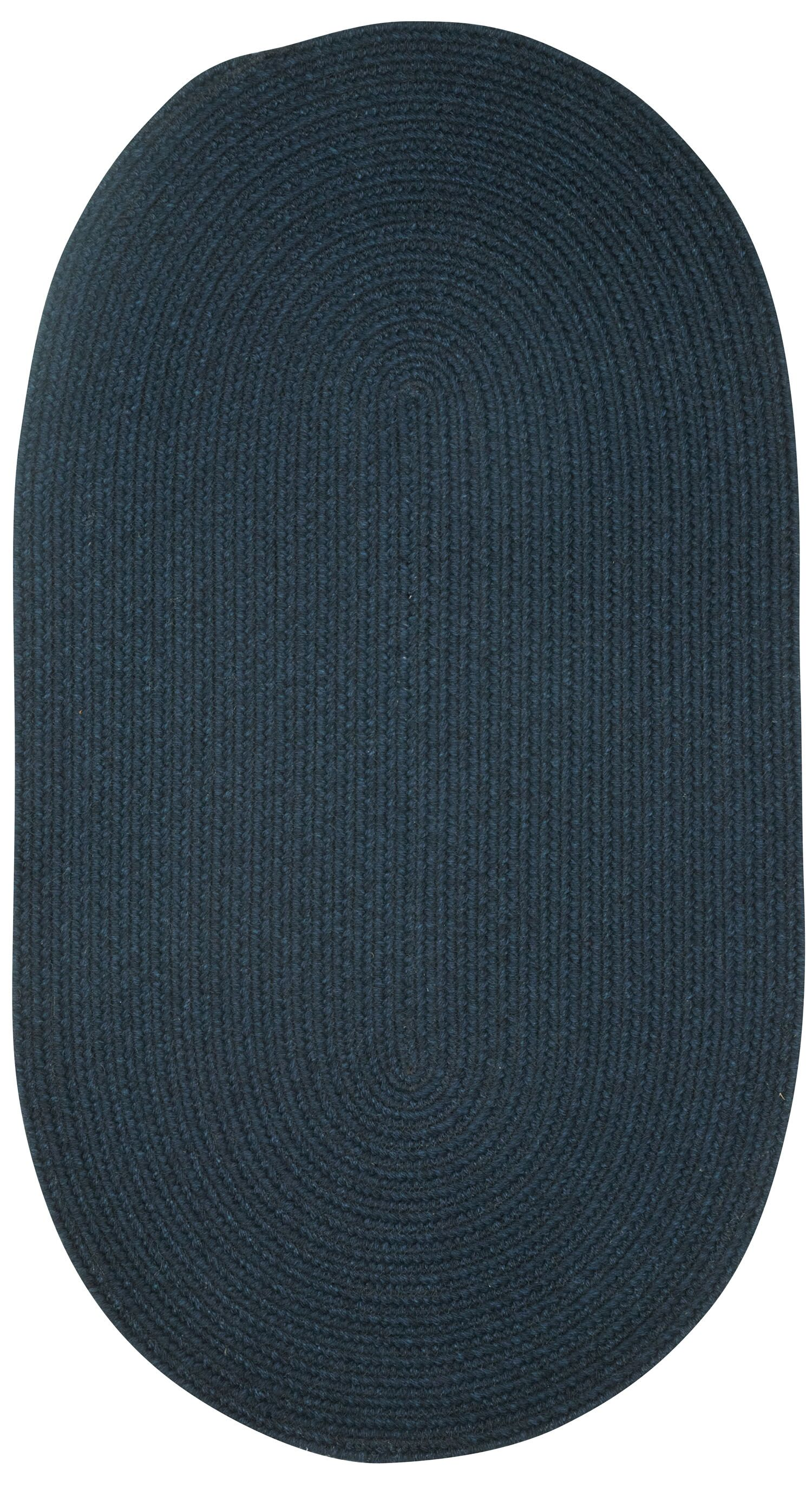 Matthias Dark Blue Area Rug Rug Size: Vertical Stripe 8' x 11'