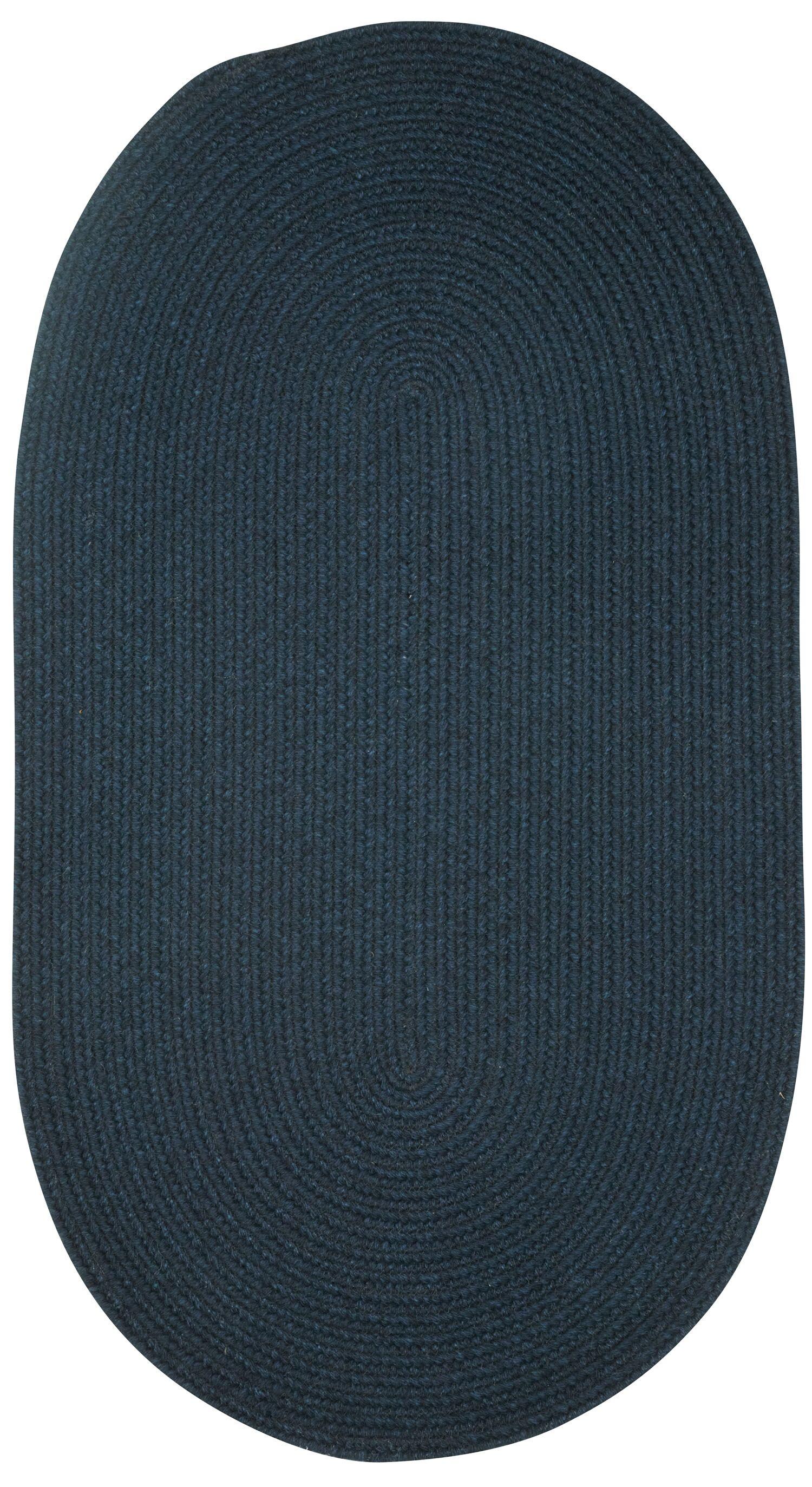 Matthias Dark Blue Area Rug Rug Size: Vertical Stripe 1'8