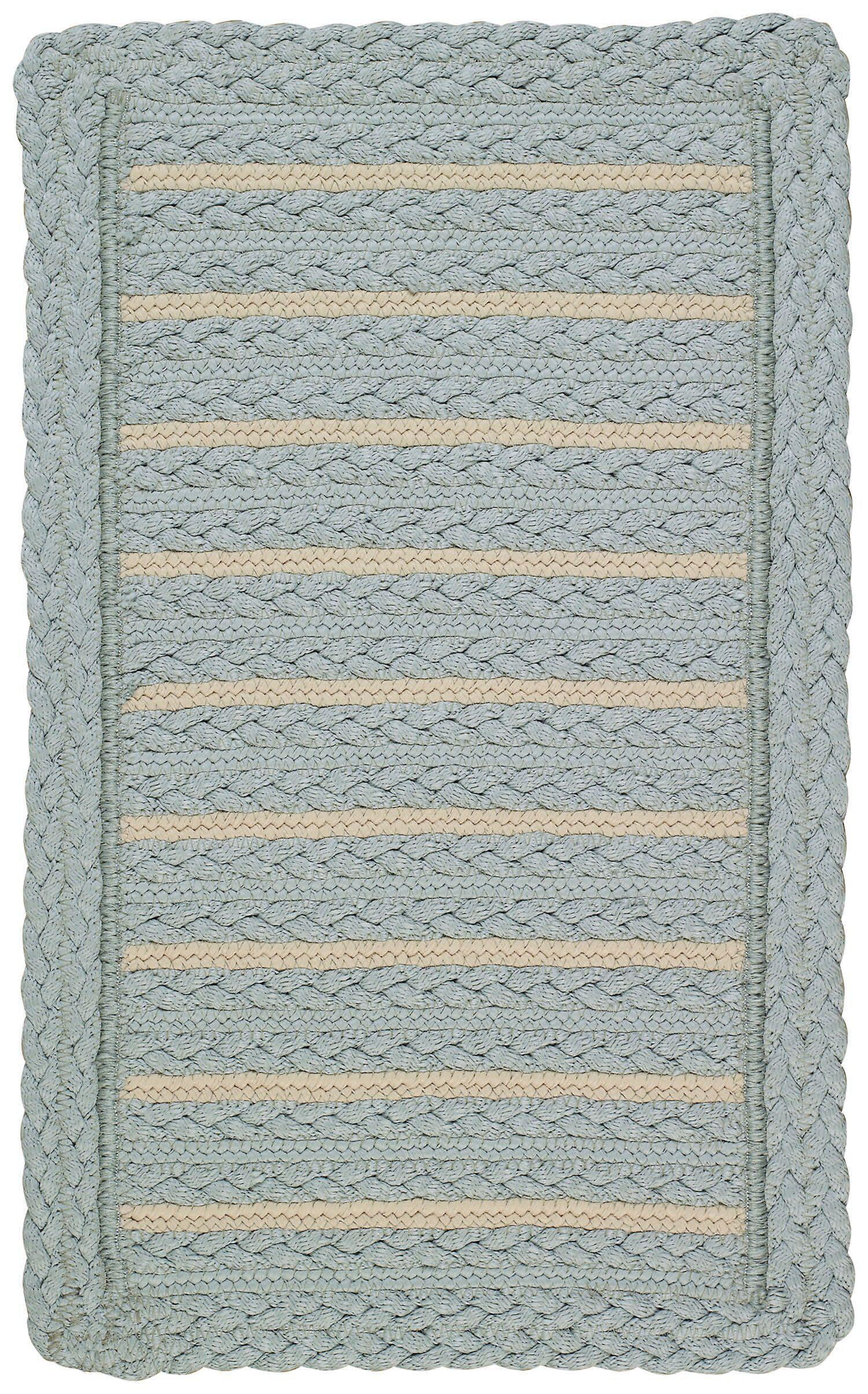 Lyndon Blue Area Rug Rug Size: Cross Sewn Square 5'6