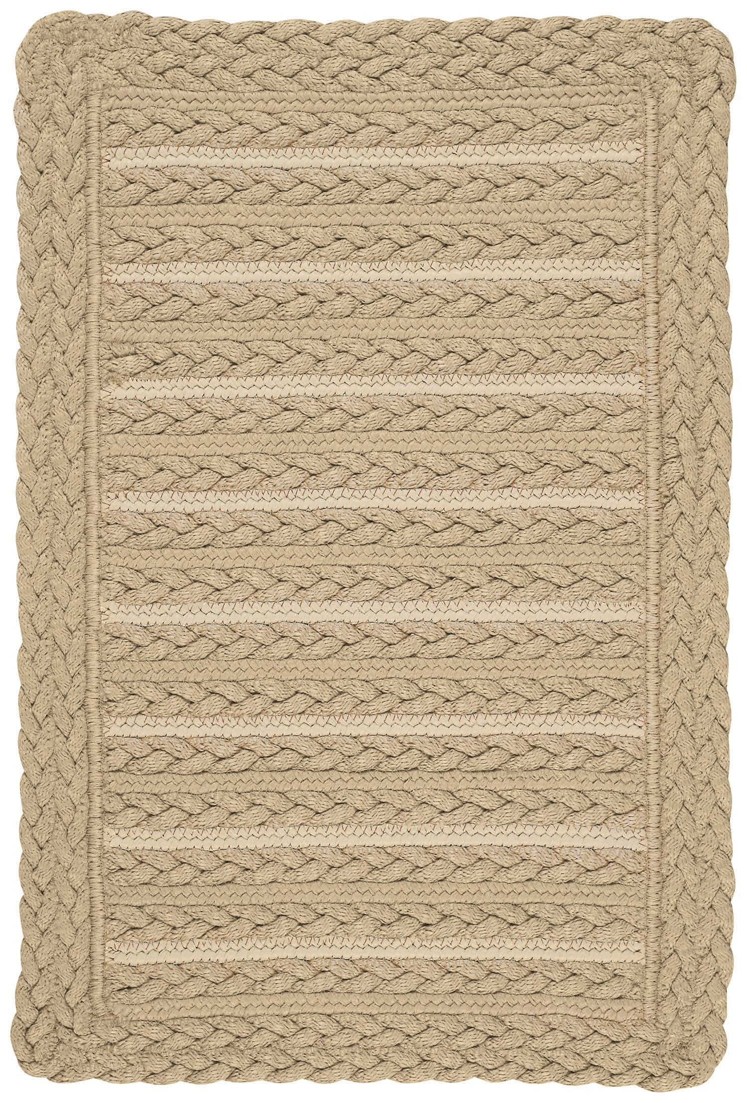 Lyndon Beige Indoor/Outdoor Area Rug Rug Size: Cross Sewn Square 5'6
