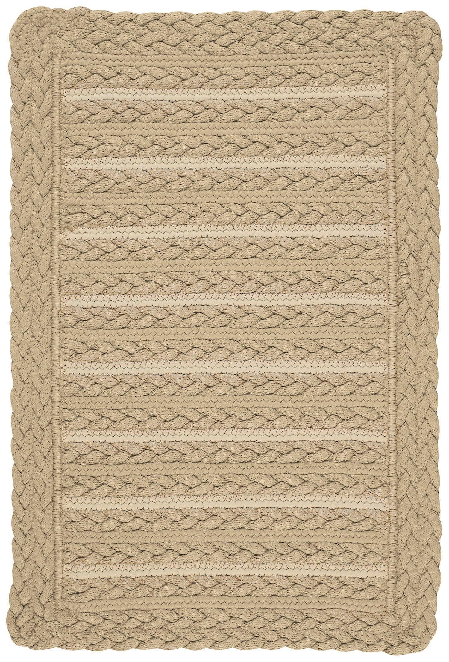 Lyndon Beige Indoor/Outdoor Area Rug Rug Size: Cross Sewn 8' x 11'