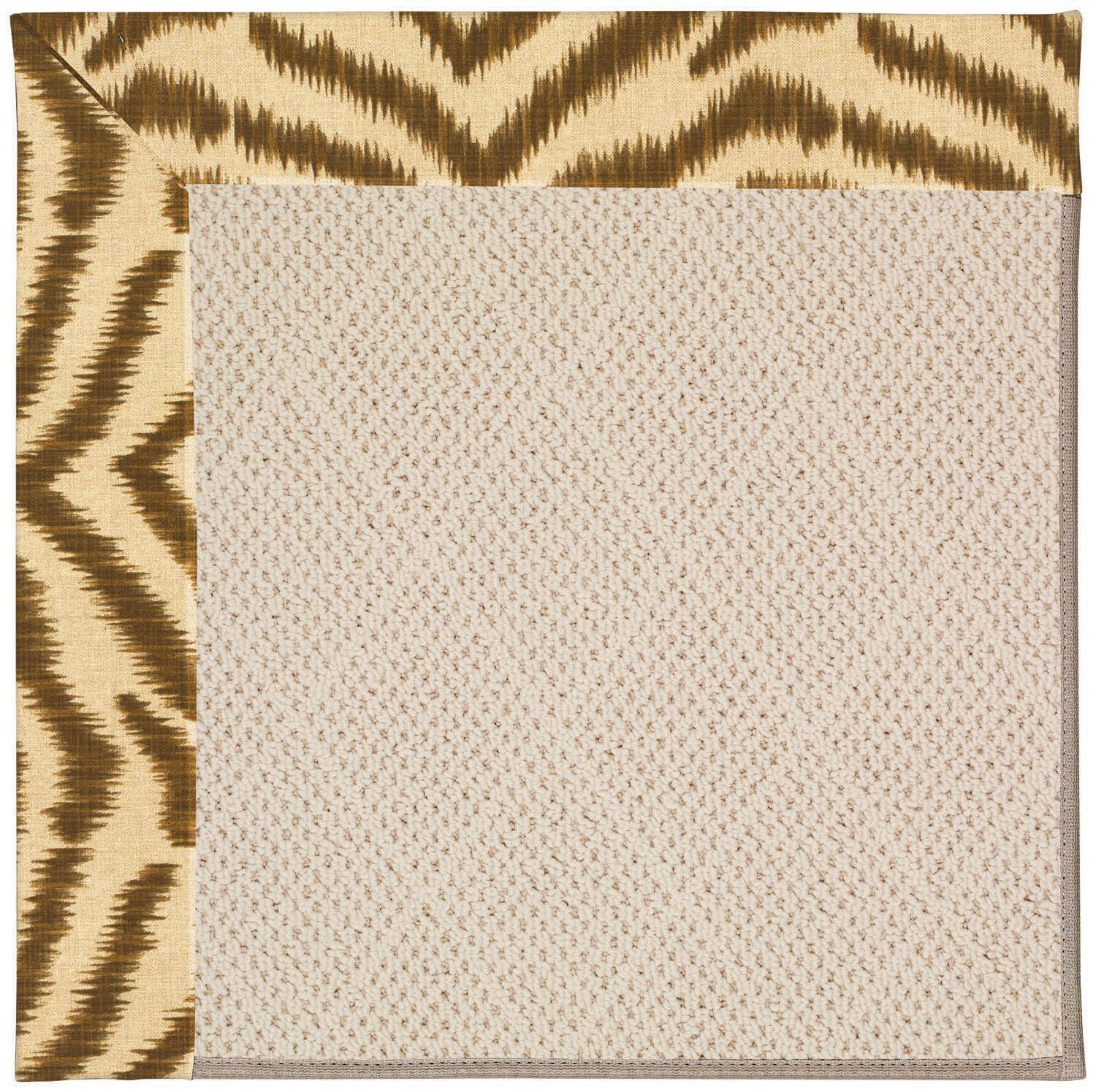 Lisle Light Brown Indoor/Outdoor Area Rug Rug Size: Square 12'