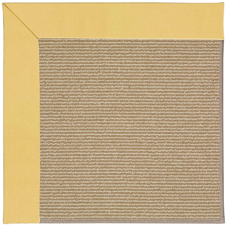 Lisle Machine Tufted Lemon/Brown Indoor/Outdoor Area Rug Rug Size: Rectangle 9' x 12'