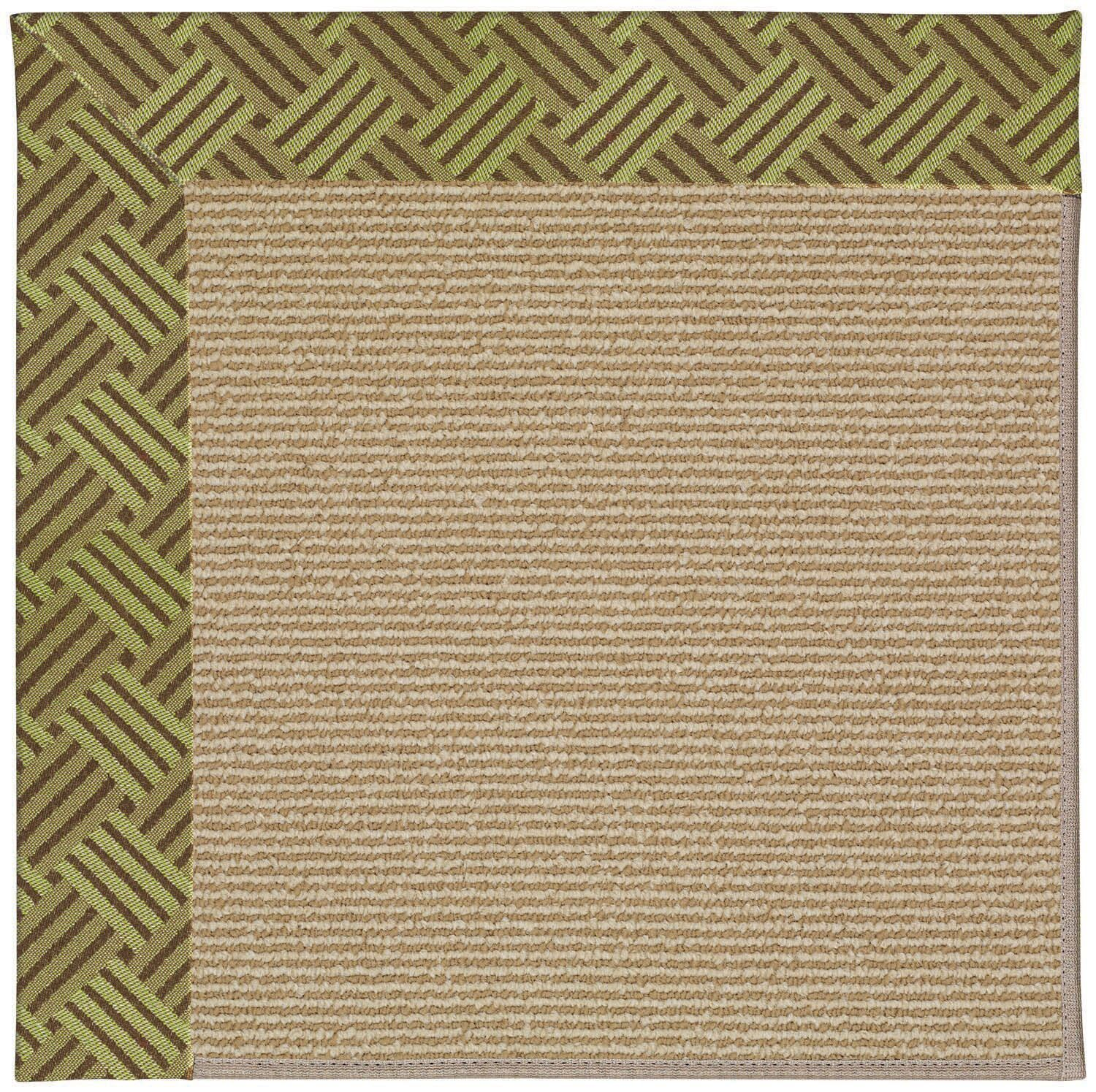Lisle Light Brown Indoor/Outdoor Area Rug Rug Size: Square 6'