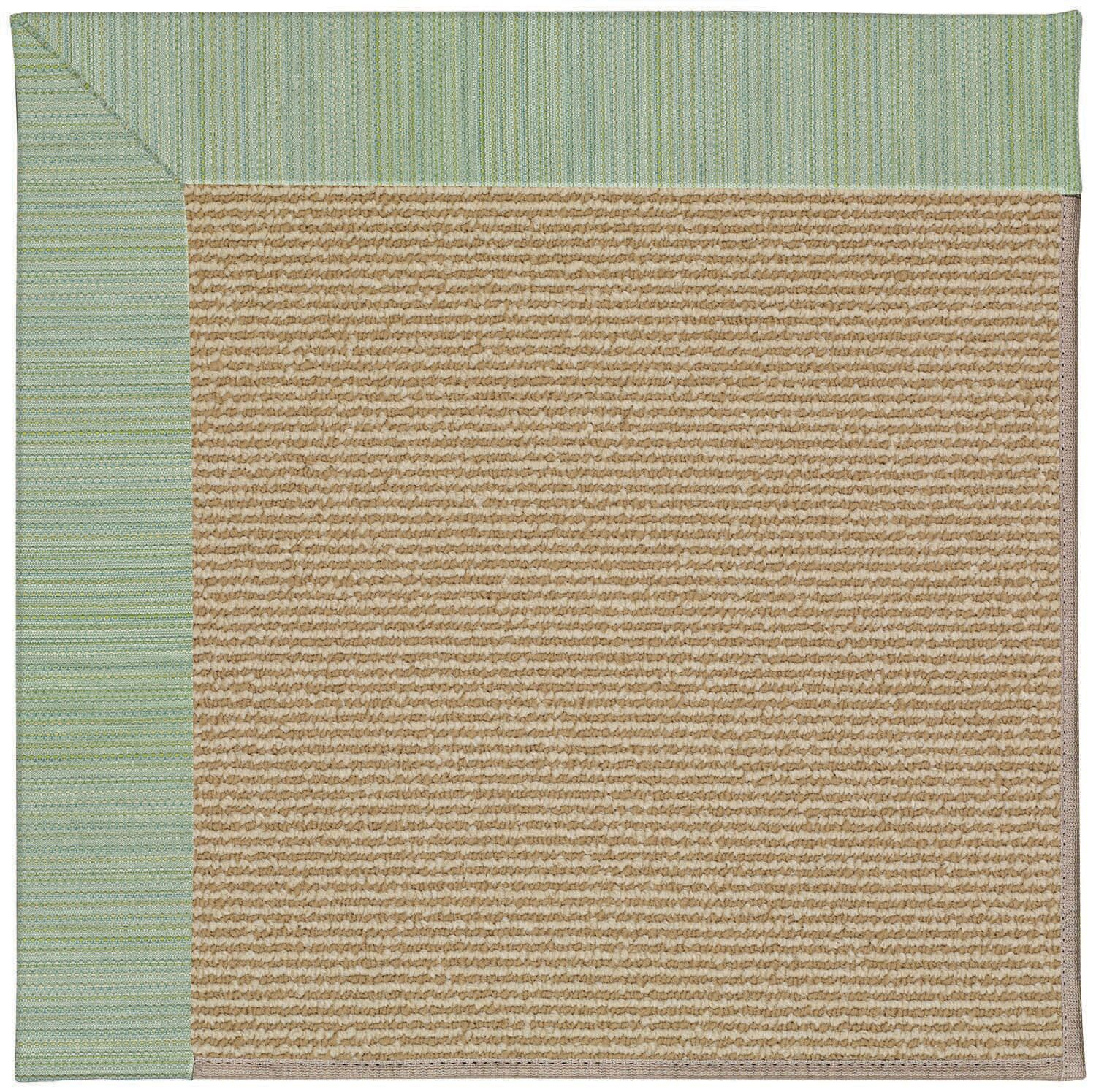 Lisle Machine Tufted Green Spa and Beige Indoor/Outdoor Area Rug Rug Size: Round 12' x 12'