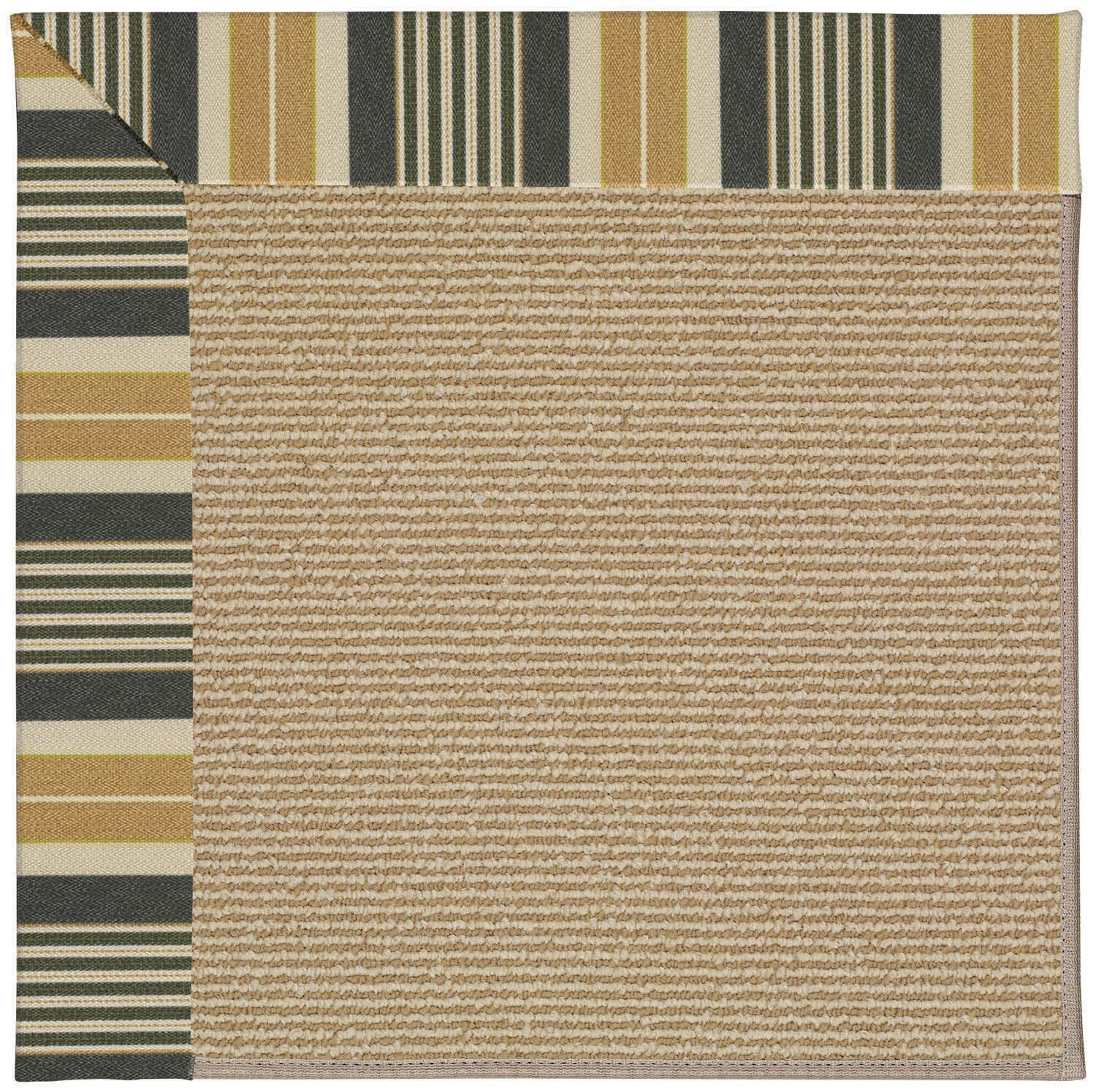Lisle Machine Tufted Multi-colored/Brown Indoor/Outdoor Area Rug Rug Size: Round 12' x 12'