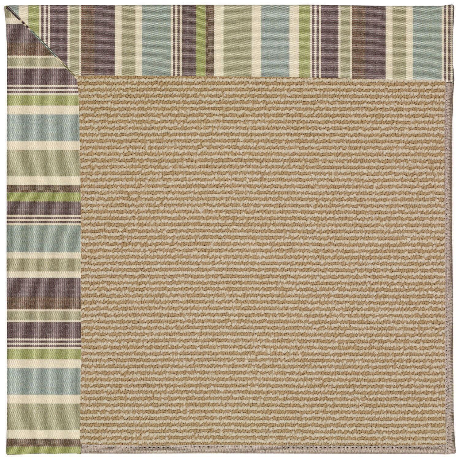 Lisle Light Brown Indoor/Outdoor Area Rug Rug Size: Square 4'