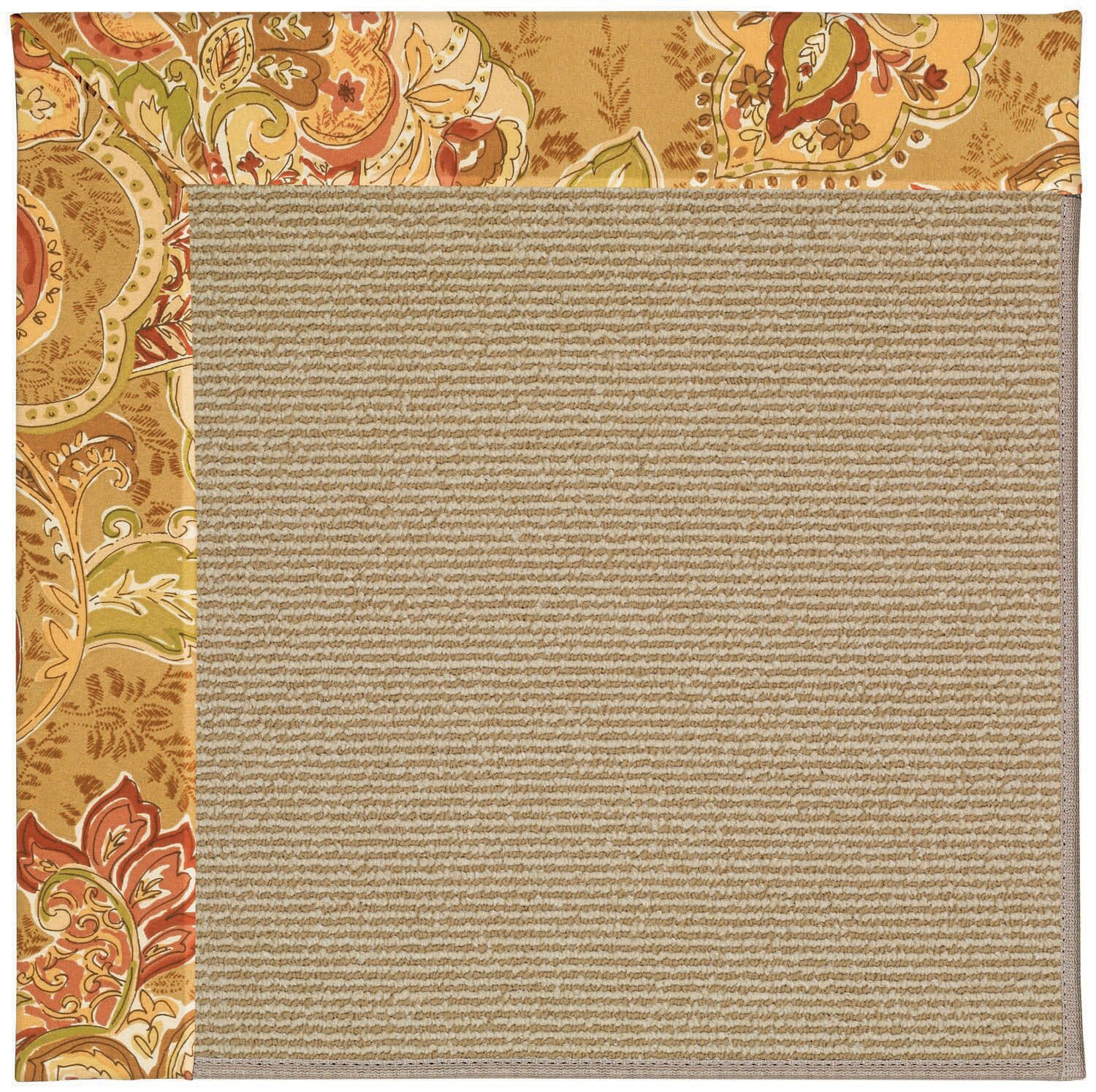 Lisle Machine Tufted Bronze Flowers/Brown Indoor/Outdoor Area Rug Rug Size: Square 8'