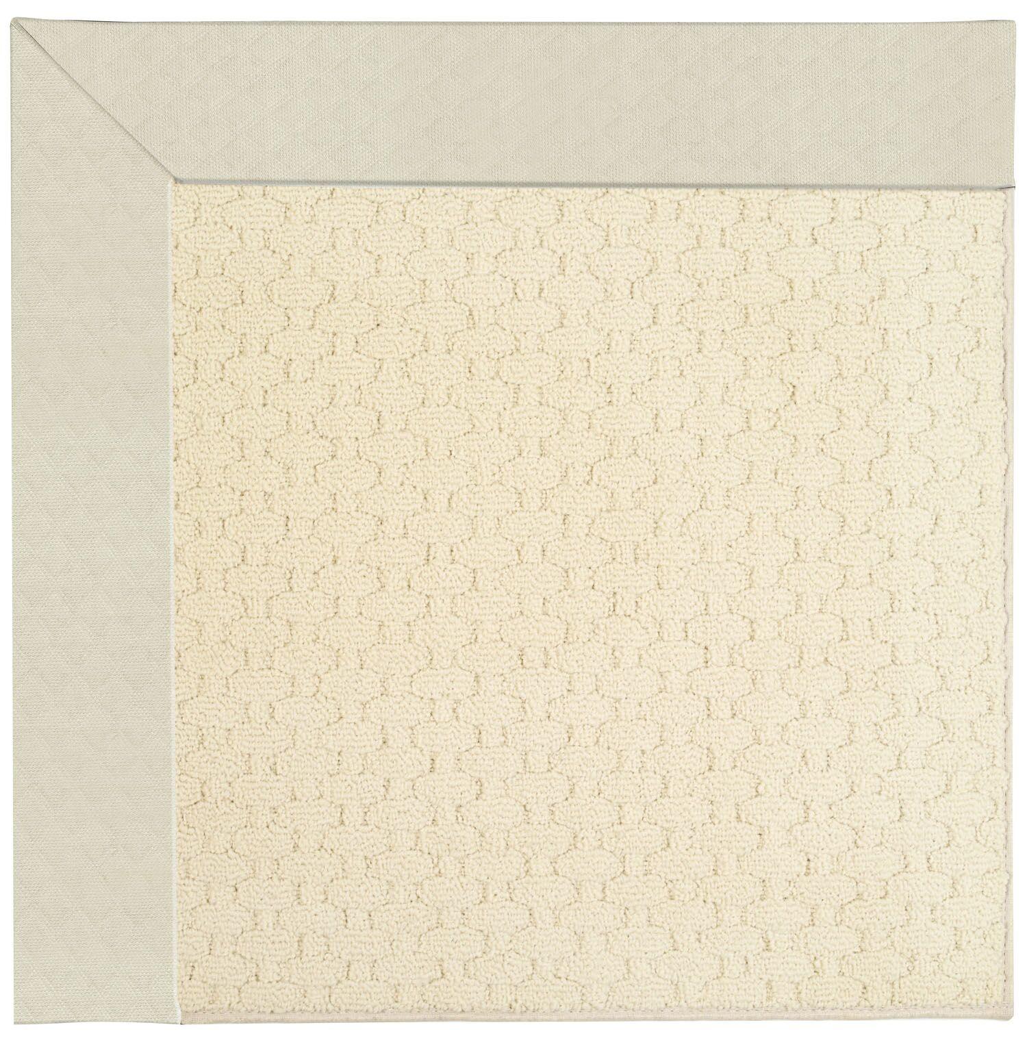 Lisle Cream Indoor/Outdoor Area Rug Rug Size: Square 4'