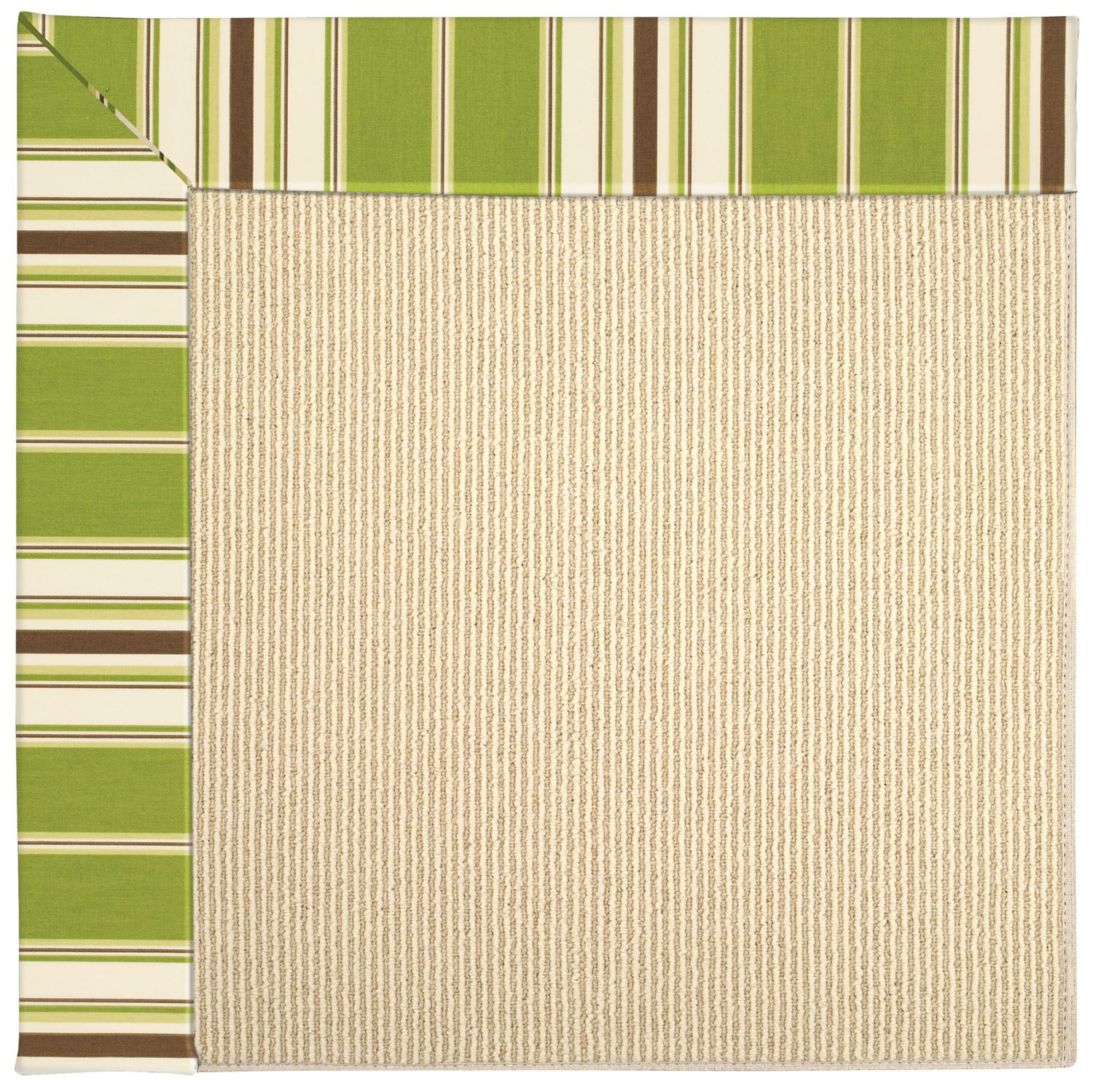 Lisle Machine Tufted Green/Brown Indoor/Outdoor Area Rug Rug Size: Rectangle 7' x 9'