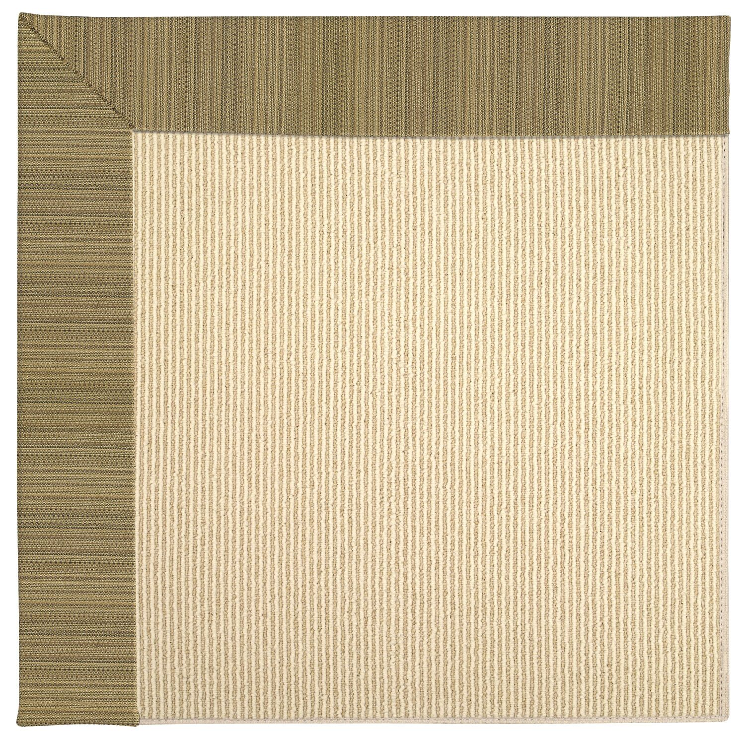 Lisle Machine Tufted Green/Brown Indoor/Outdoor Area Rug Rug Size: Square 8'