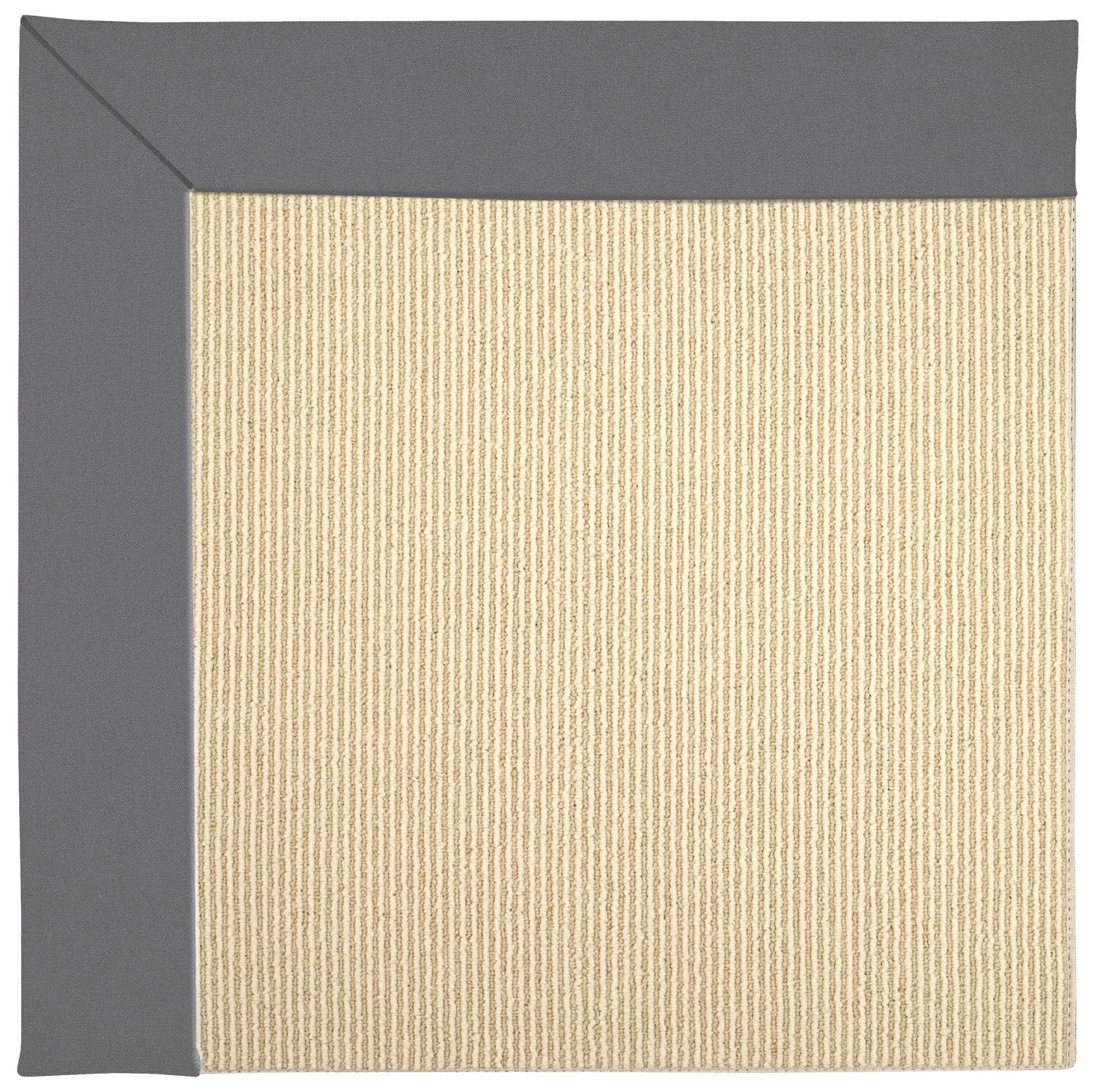 Lisle Sisal Machine Tufted Beige/Ash Indoor/Outdoor Area Rug Rug Size: Square 4'