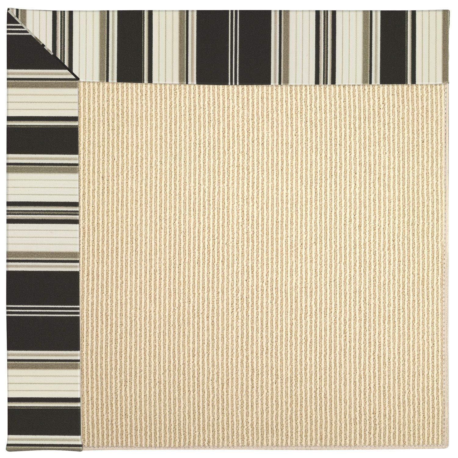 Lisle Machine Tufted Onyx Indoor/Outdoor Area Rug Rug Size: Rectangle 7' x 9'