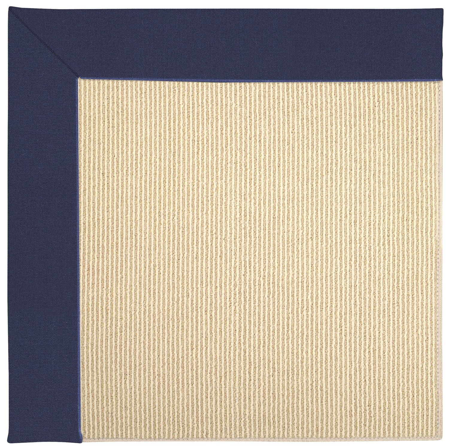 Lisle Machine Tufted Navy/Beige Indoor/Outdoor Area Rug Rug Size: Rectangle 5' x 8'