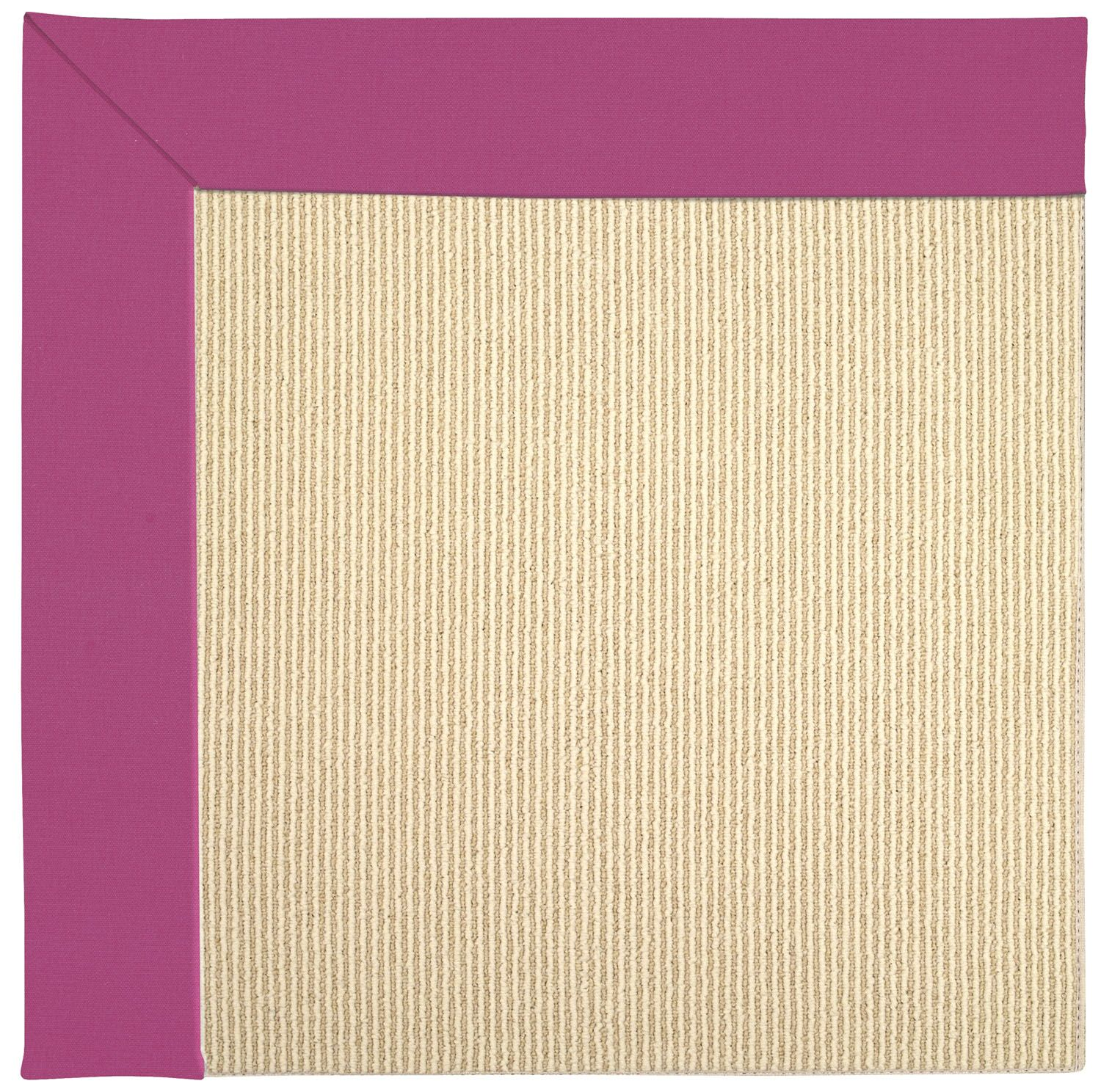 Lisle Machine Tufted Fuchsia/Brown Indoor/Outdoor Area Rug Rug Size: Square 10'