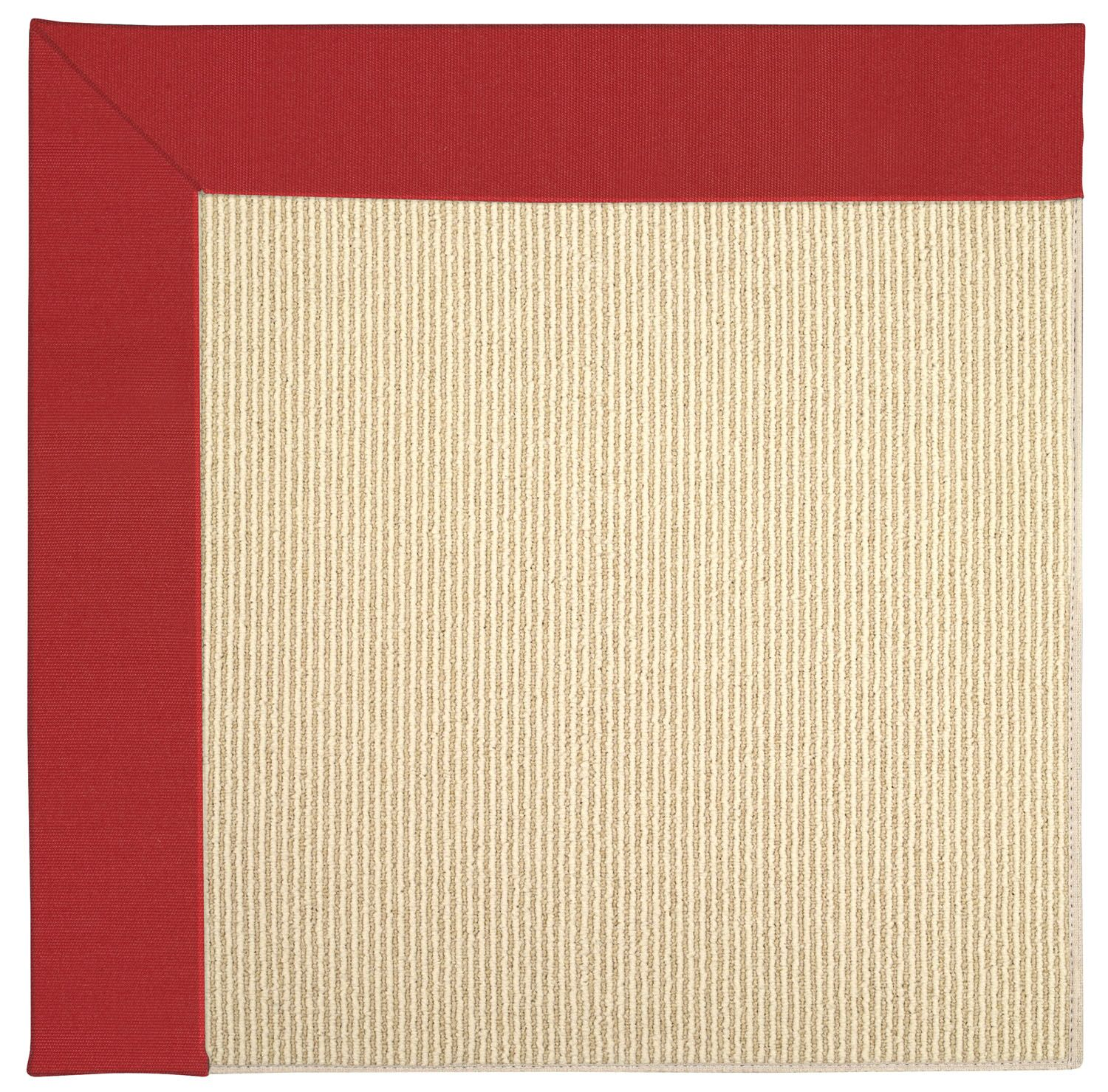 Lisle Machine Tufted Red/Beige Indoor/Outdoor Area Rug Rug Size: Square 4'