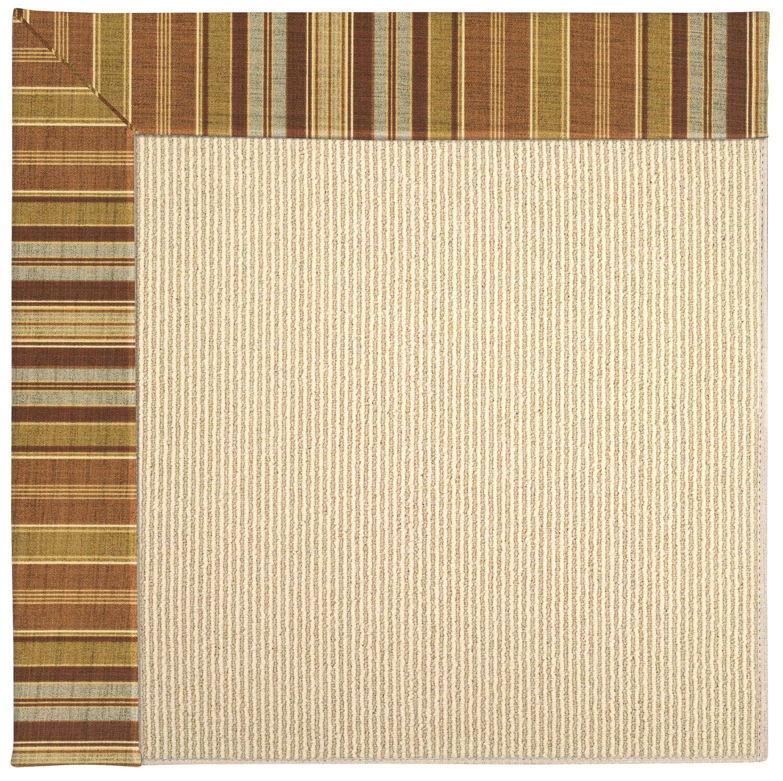 Lisle Machine Tufted Button Mushroom/Beige Indoor/Outdoor Area Rug Rug Size: Square 4'