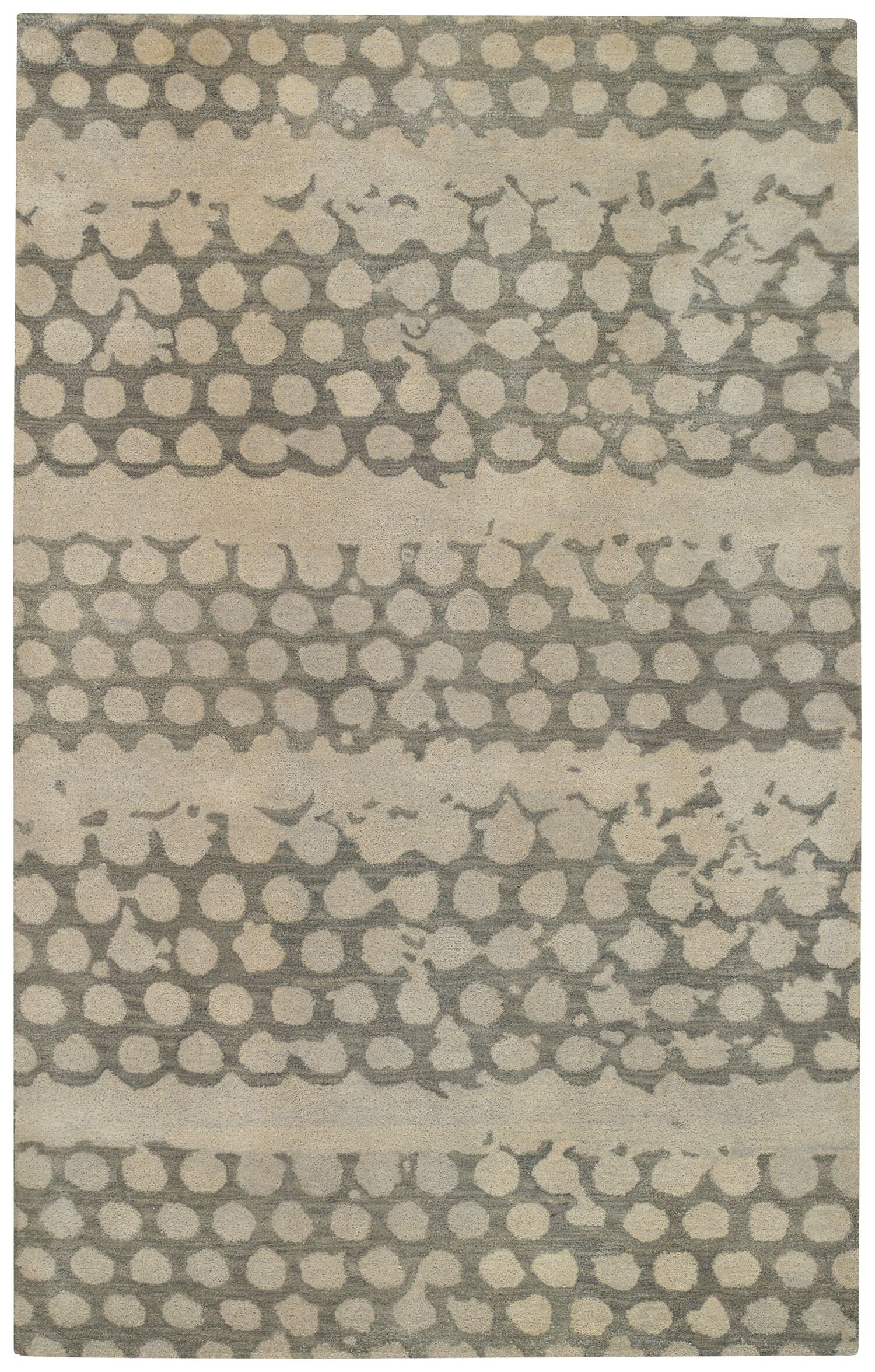 Bee Hives Grey Area Rug Rug Size: Rectangle 5' x 8'