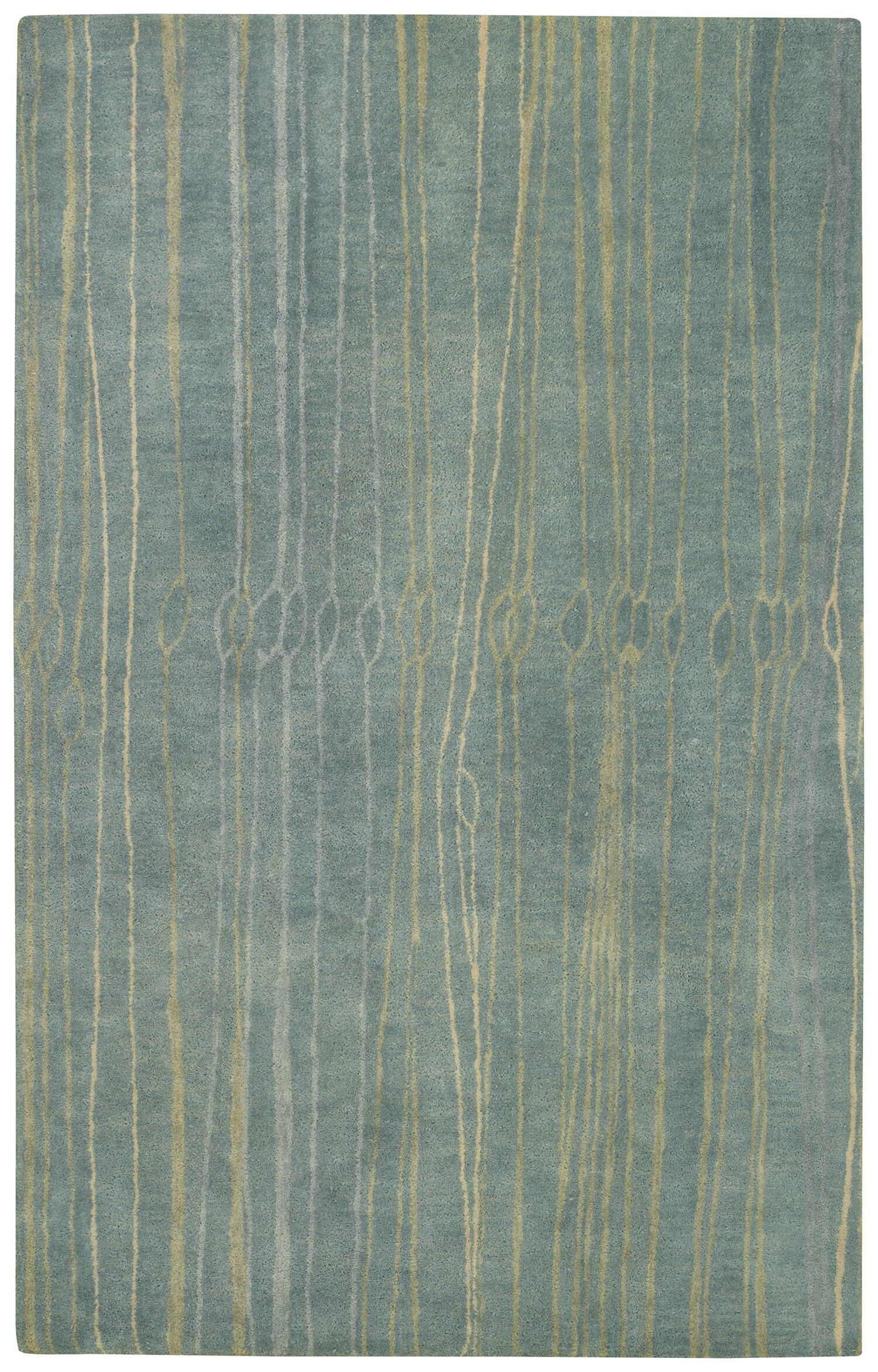 Fingerling China Blue Area Rug Rug Size: Rectangle 5' x 8'
