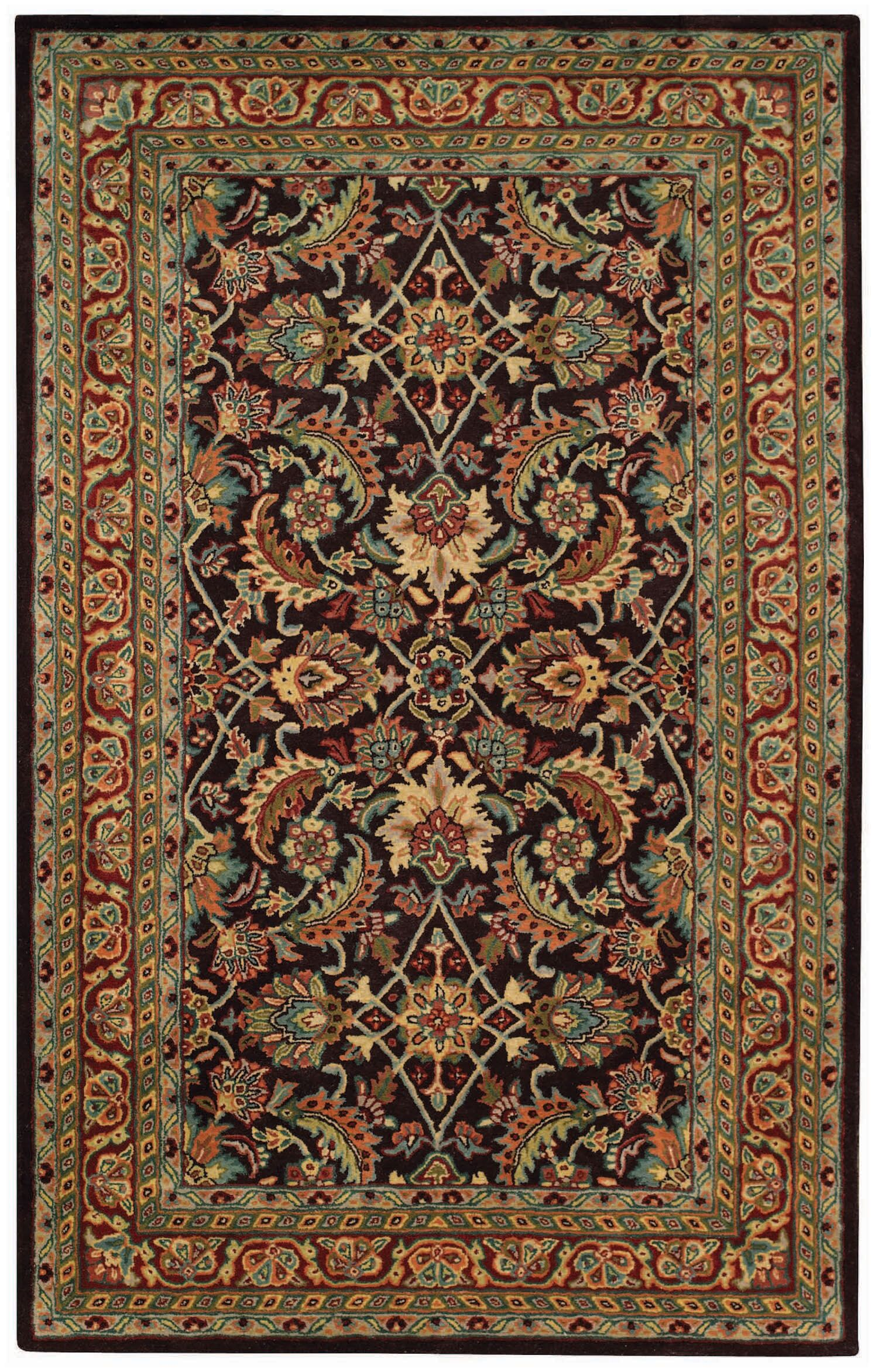 Piedmont Espresso Keshan Dark Red Area Rug Rug Size: Rectangle 5' x 8'