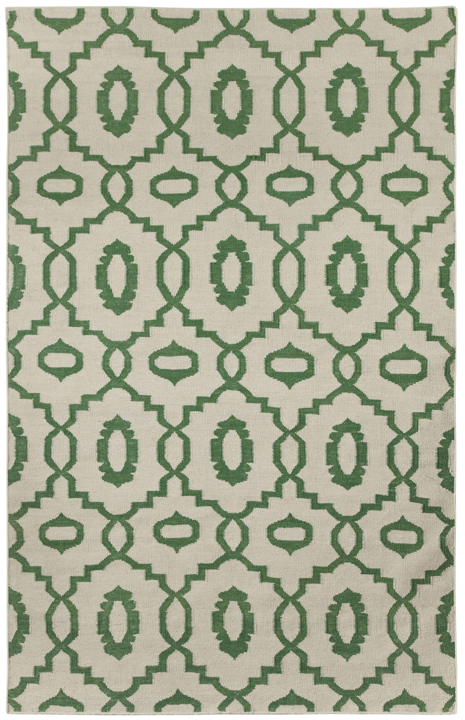 Anchor Dark Green Area Rug Rug Size: Rectangle 5' x 8'