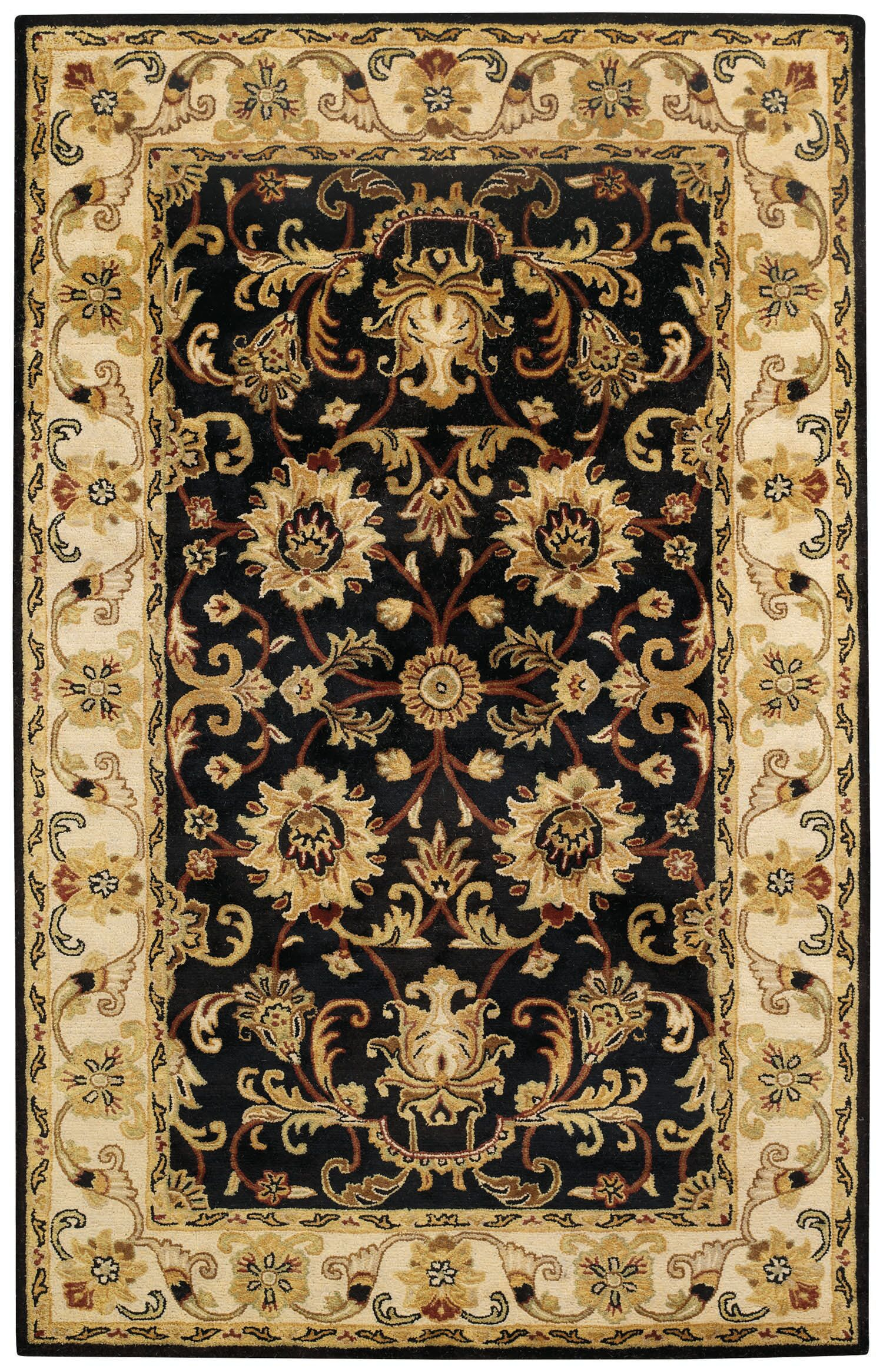 Jaren Hand-Tufted Onyx Area Rug Rug Size: 10' x 14'