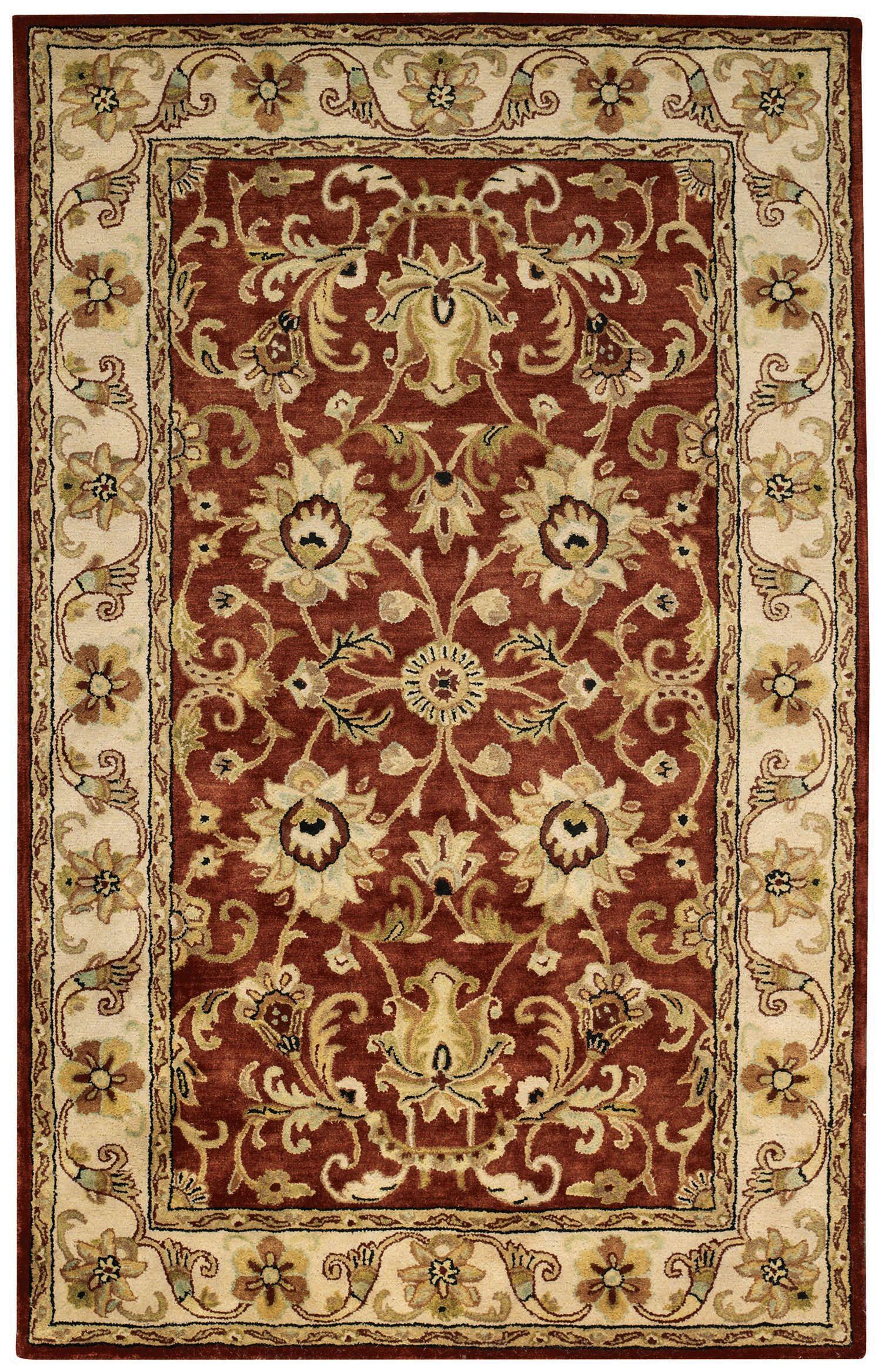 Jaren Red Area Rug Rug Size: 5' x 8'