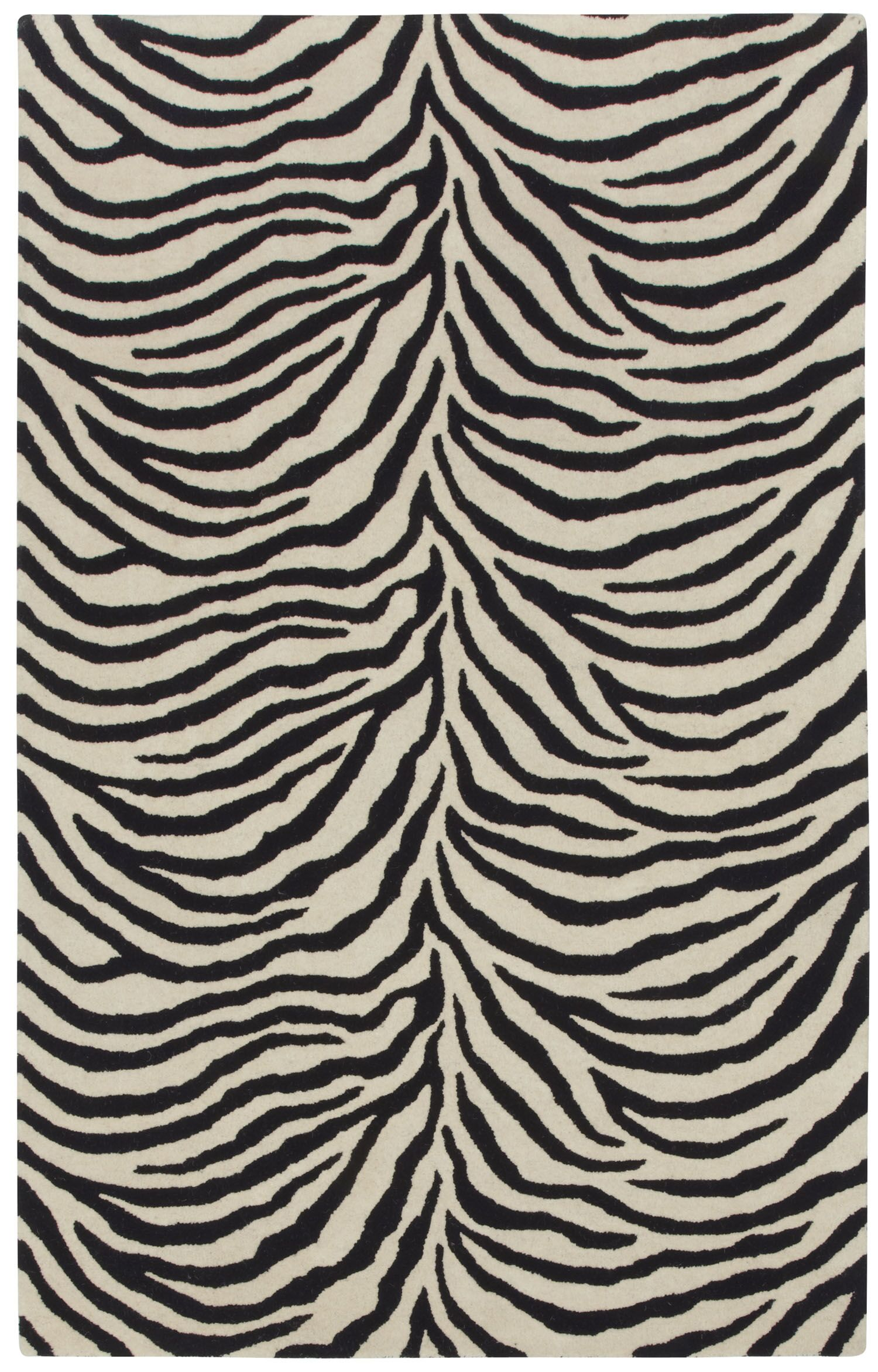 Expedition Black/White Zebra Area Rug Rug Size: Rectangle 7' x 9'