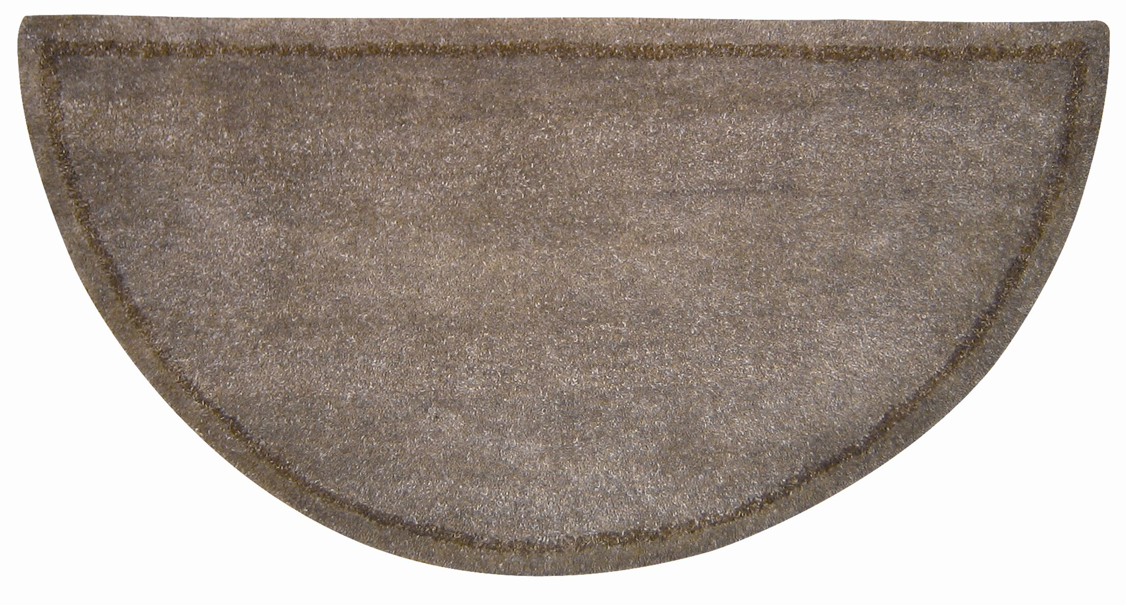 Hearth Hand-Tufted Brown Wool Area Rug Rug Size: 1'10