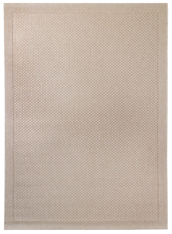 Hoffer Light Brown Indoor/Outdoor Area Rug Rug Size: 5'3