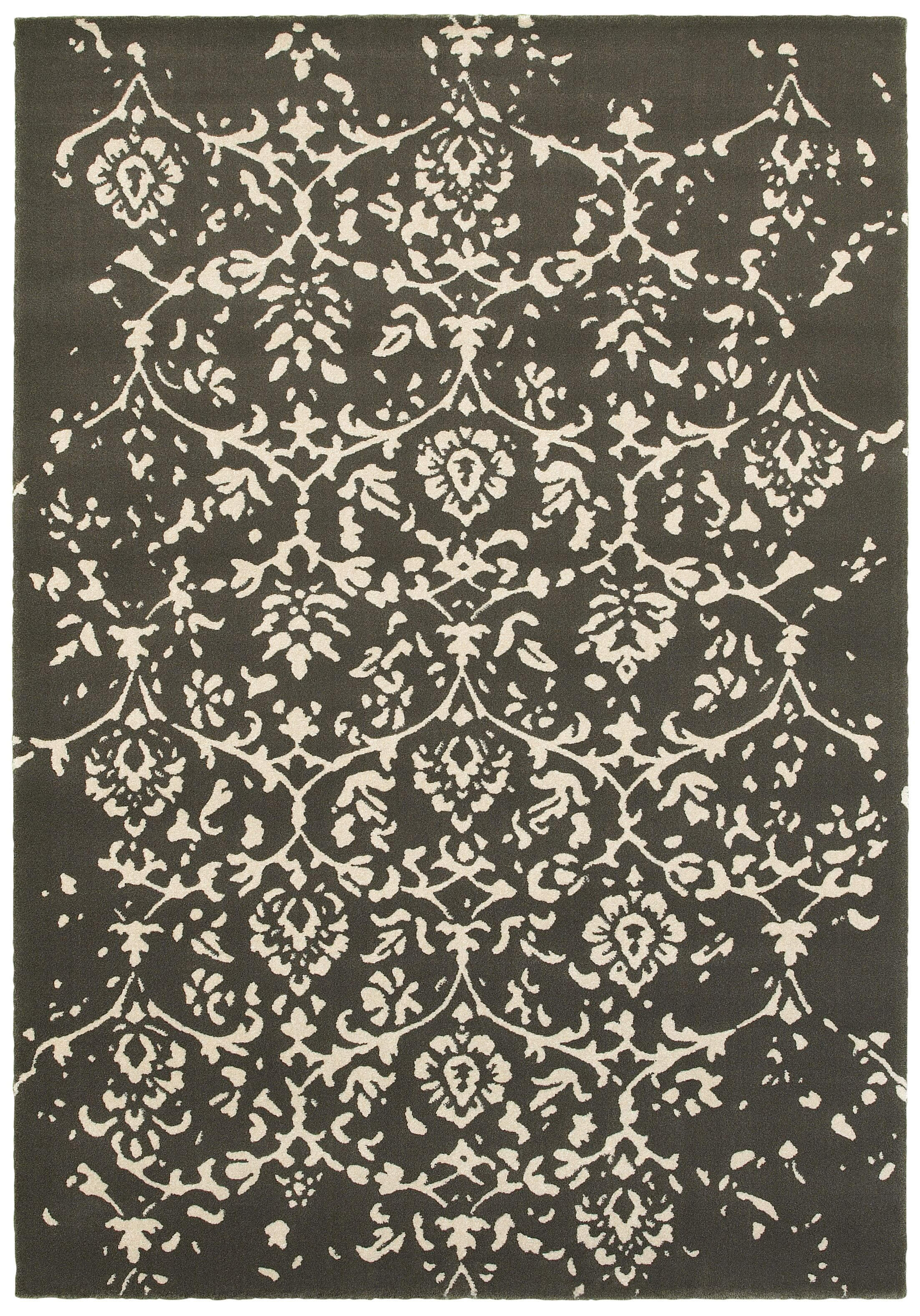 Hotaling Gray Area Rug Rug Size: 5'3