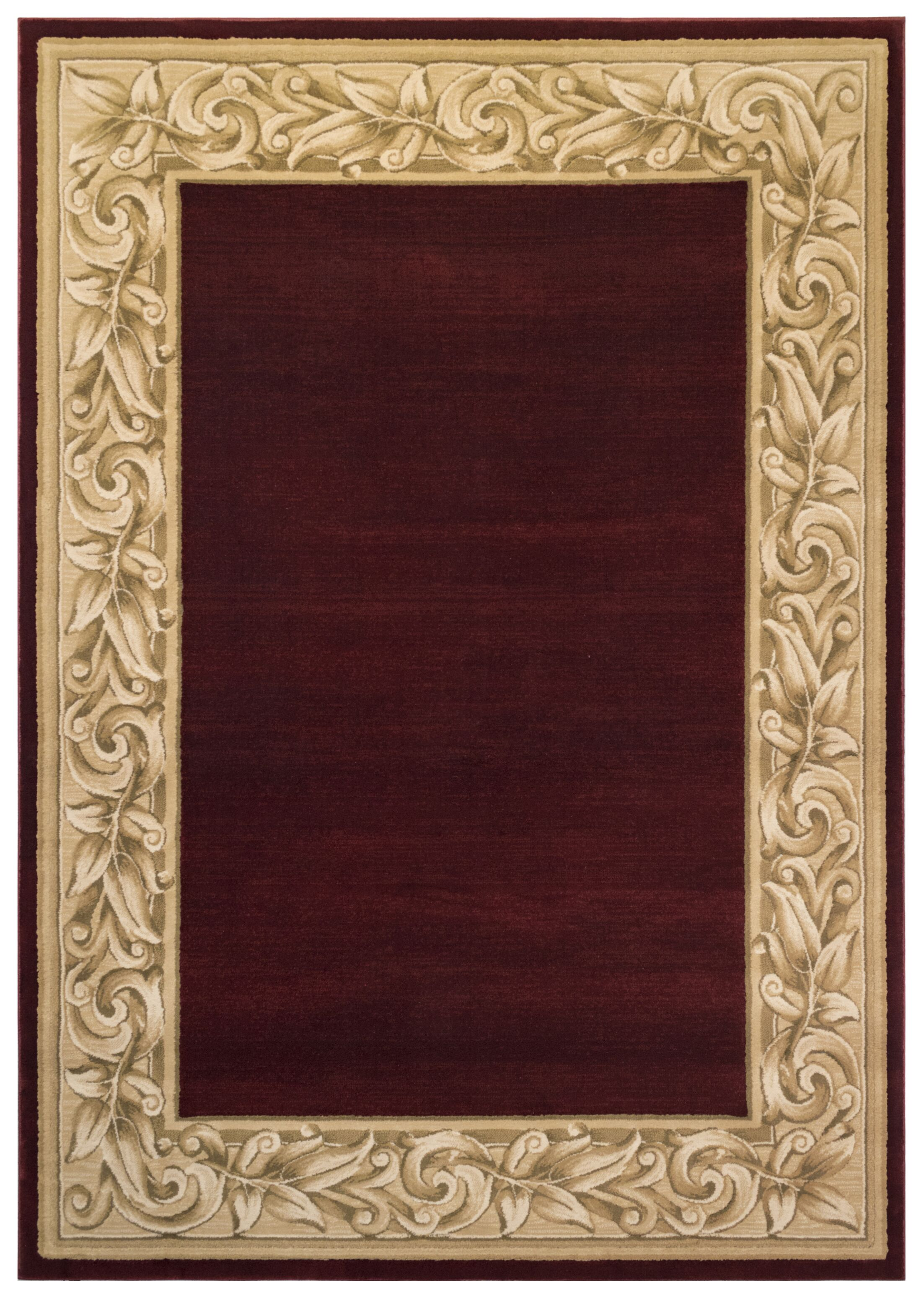 Calibogue Cay Red Area Rug Rug Size: 9'3