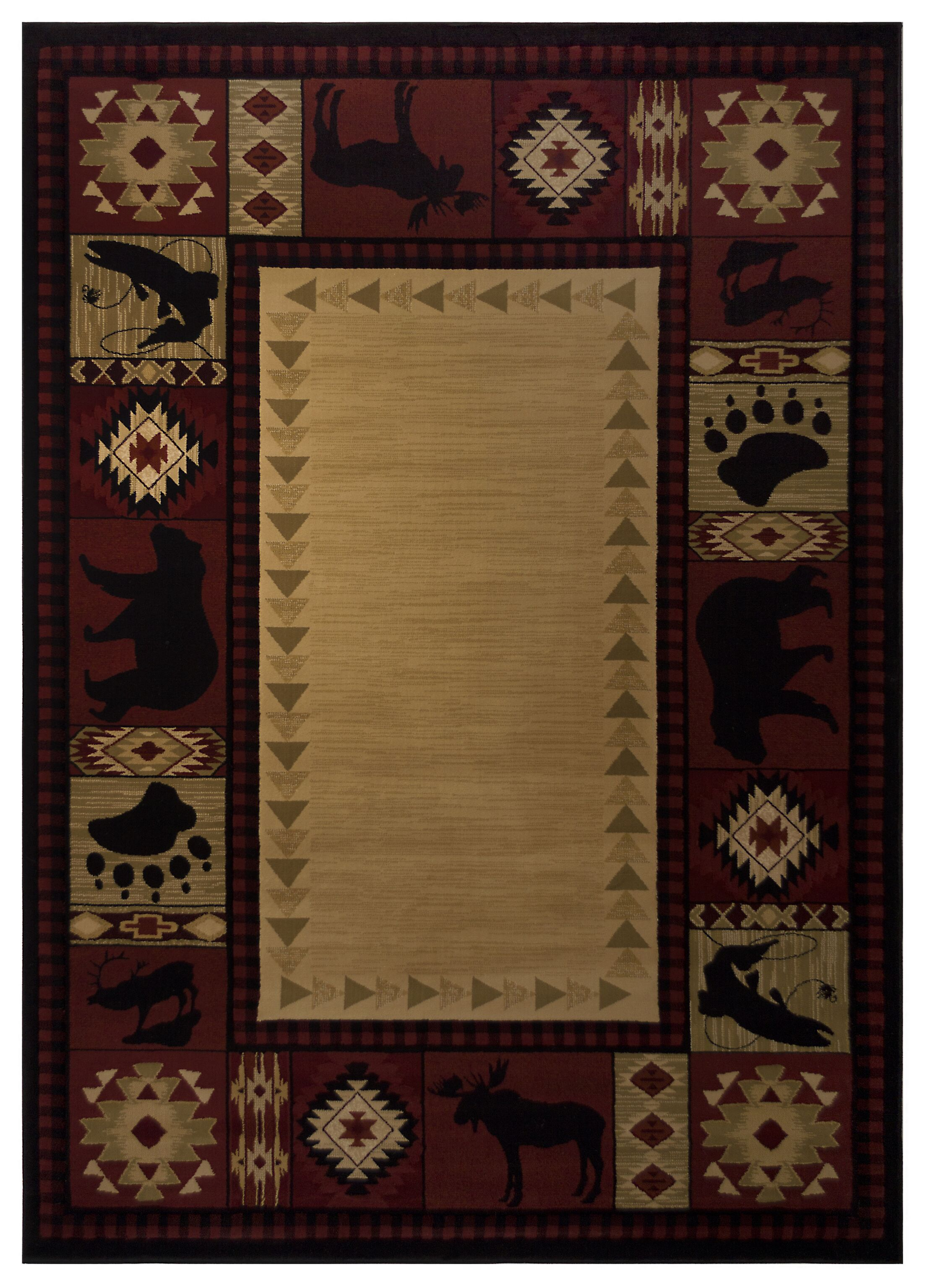 Spicewood Red Area Rug Rug Size: 6'7