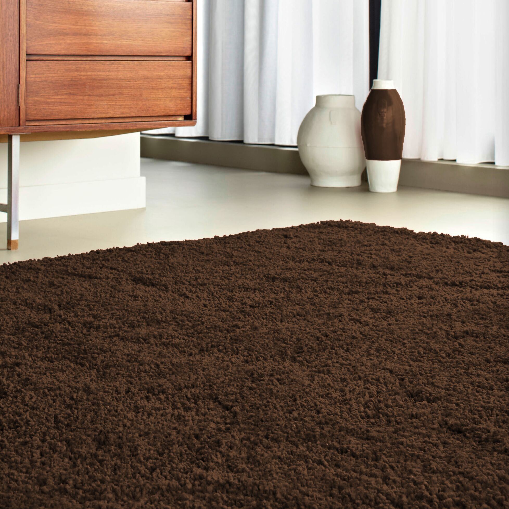 Logue Brown Area Rug Rug Size: 7'11