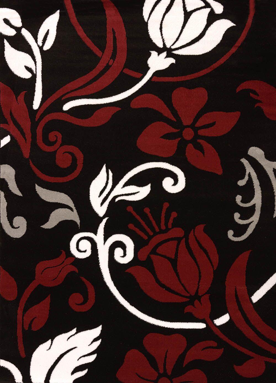 Cristall Black Chivas Rug Rug Size: 5'3