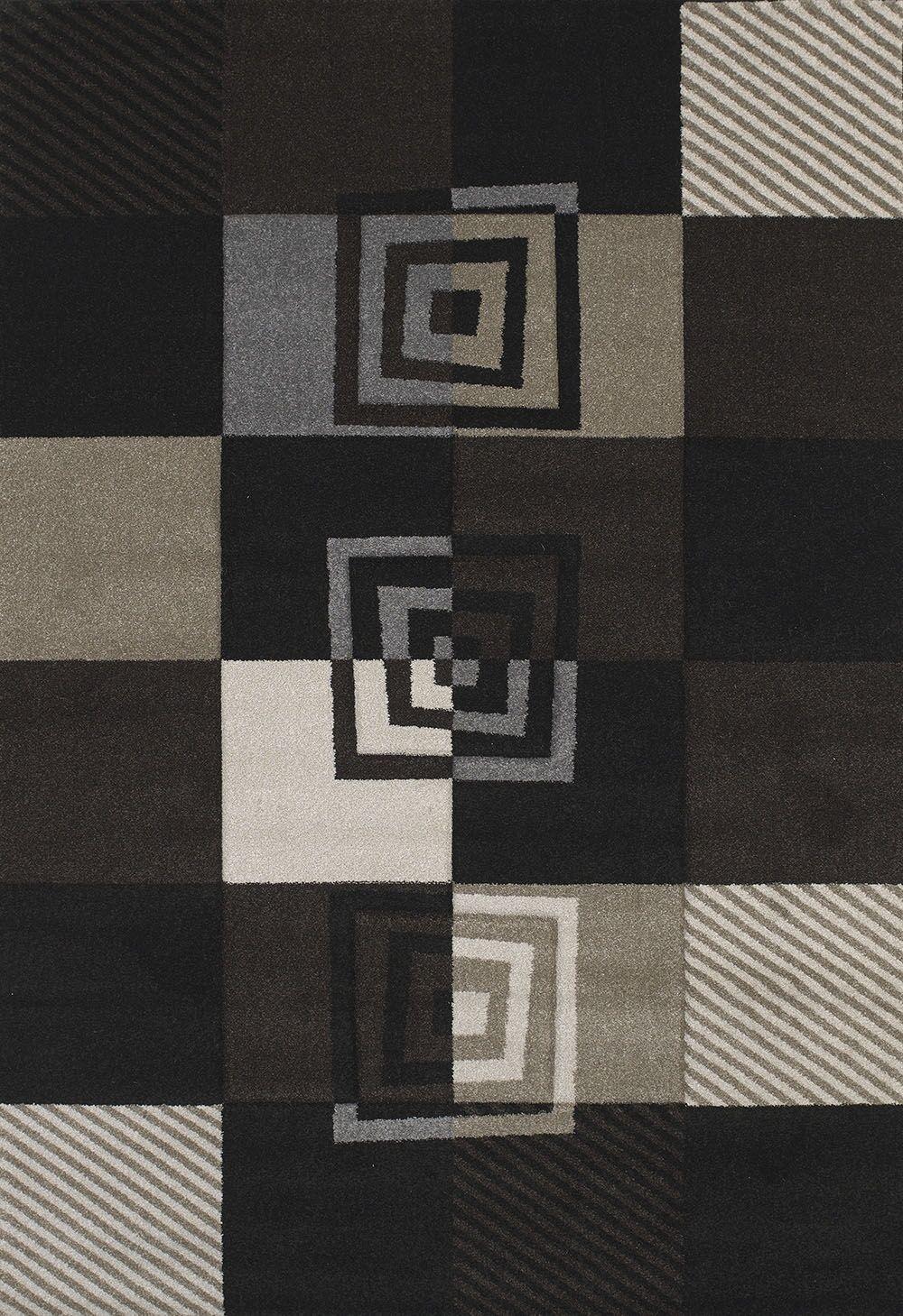 Townshend Black Vibes Rug Rug Size: 5'3