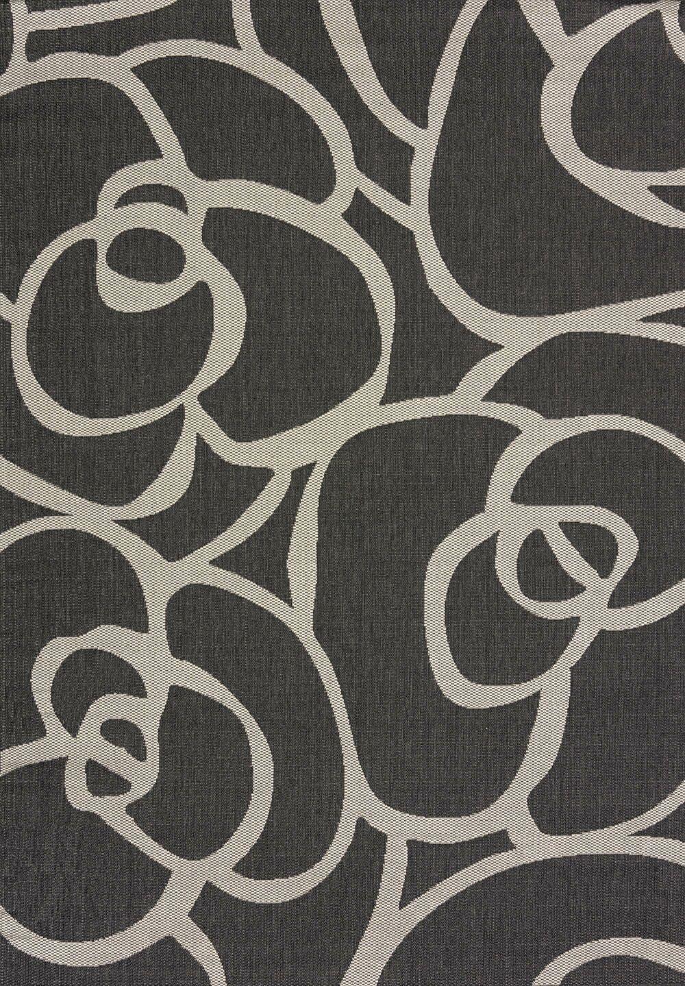 Solarium Silver Veranda Indoor/Outdoor Area Rug Rug Size: 5'3