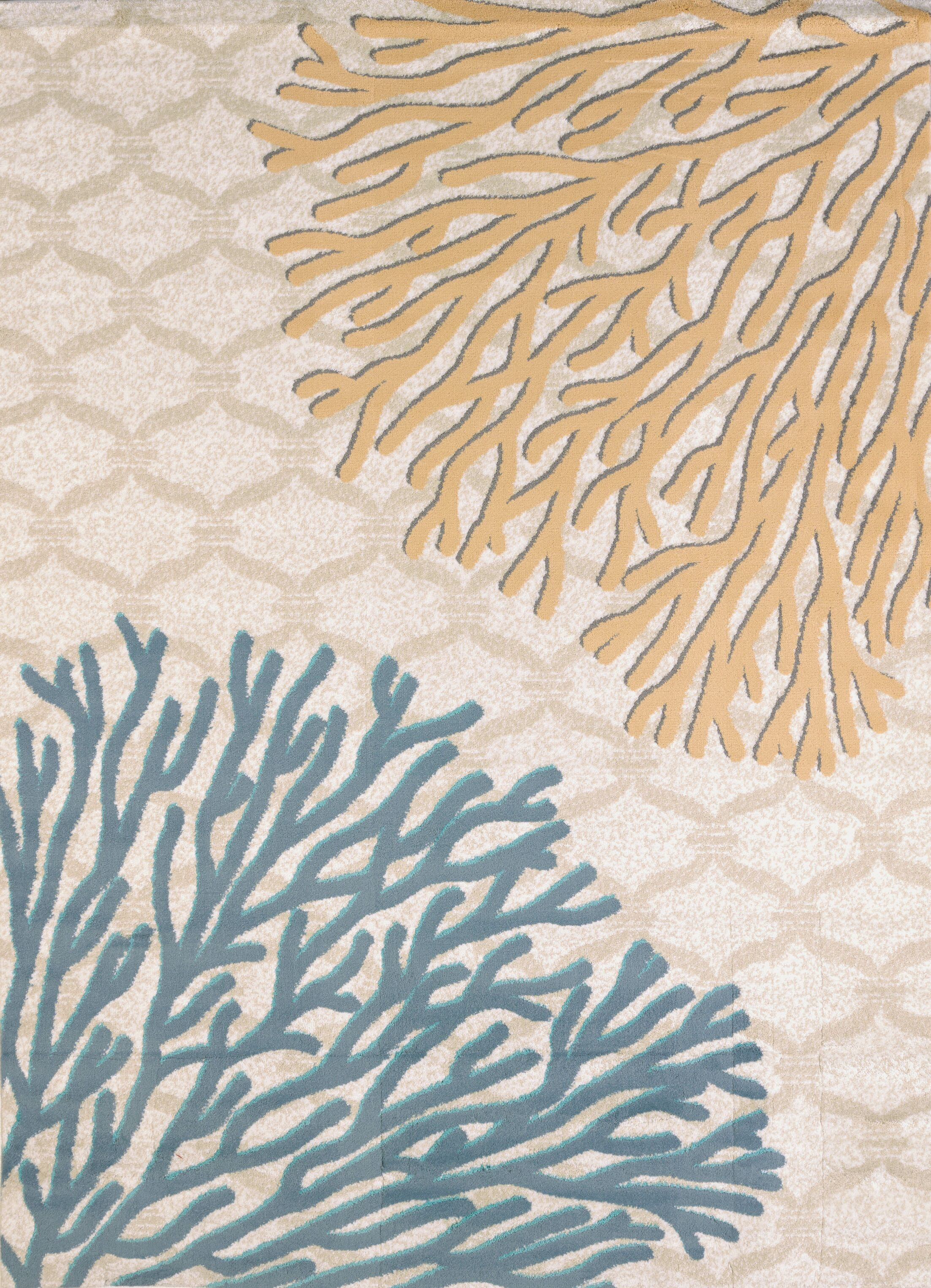 Modern Texture Coral Reef Harvest Area Rug Rug Size: Rectangle 7'10