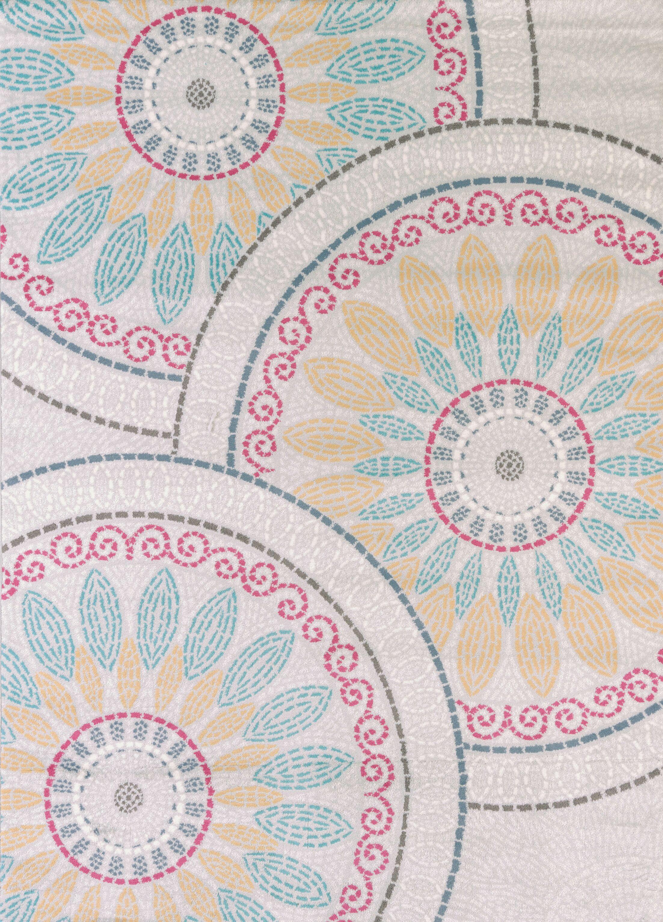Modern Texture Sun Deck Natural Area Rug Rug Size: Rectangle 5'3