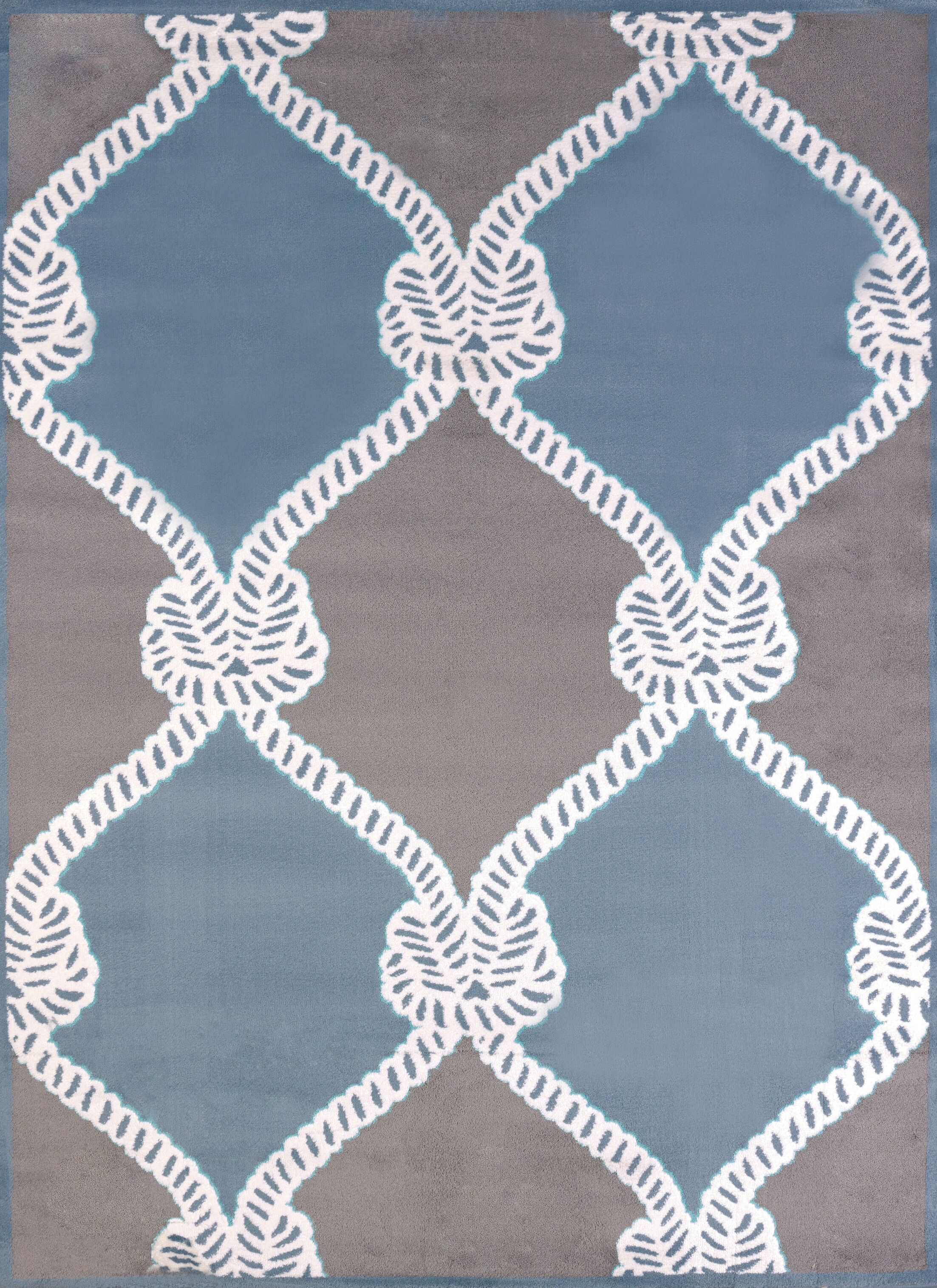 Modern Texture Cordage Blue Area Rug Rug Size: Rectangle 7'10