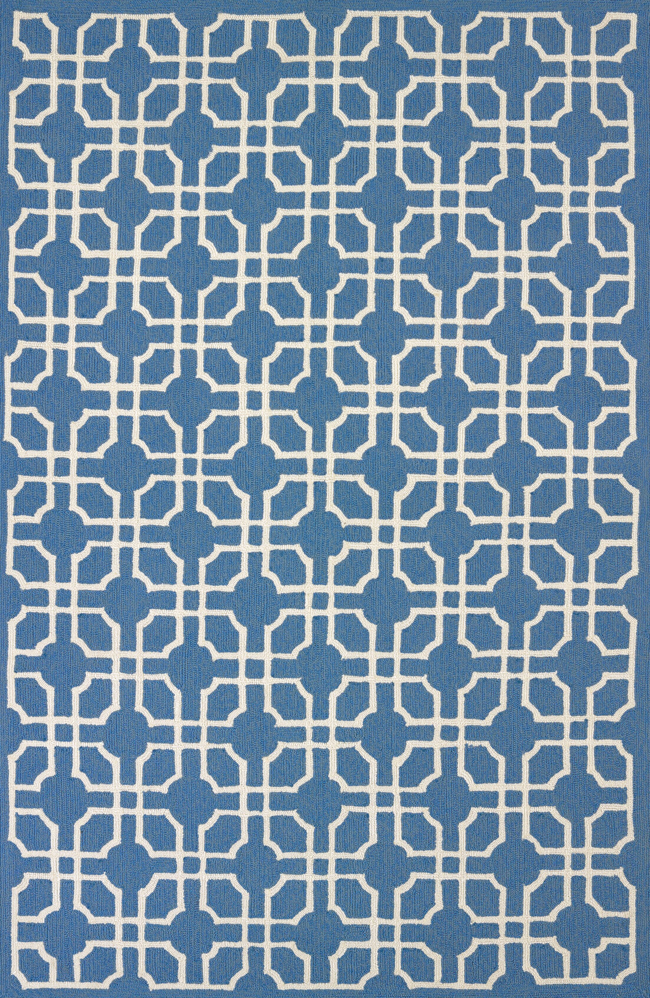 Atrium Handmade Blue Indoor/Outdoor Area Rug Rug Size: 5' x 7'6