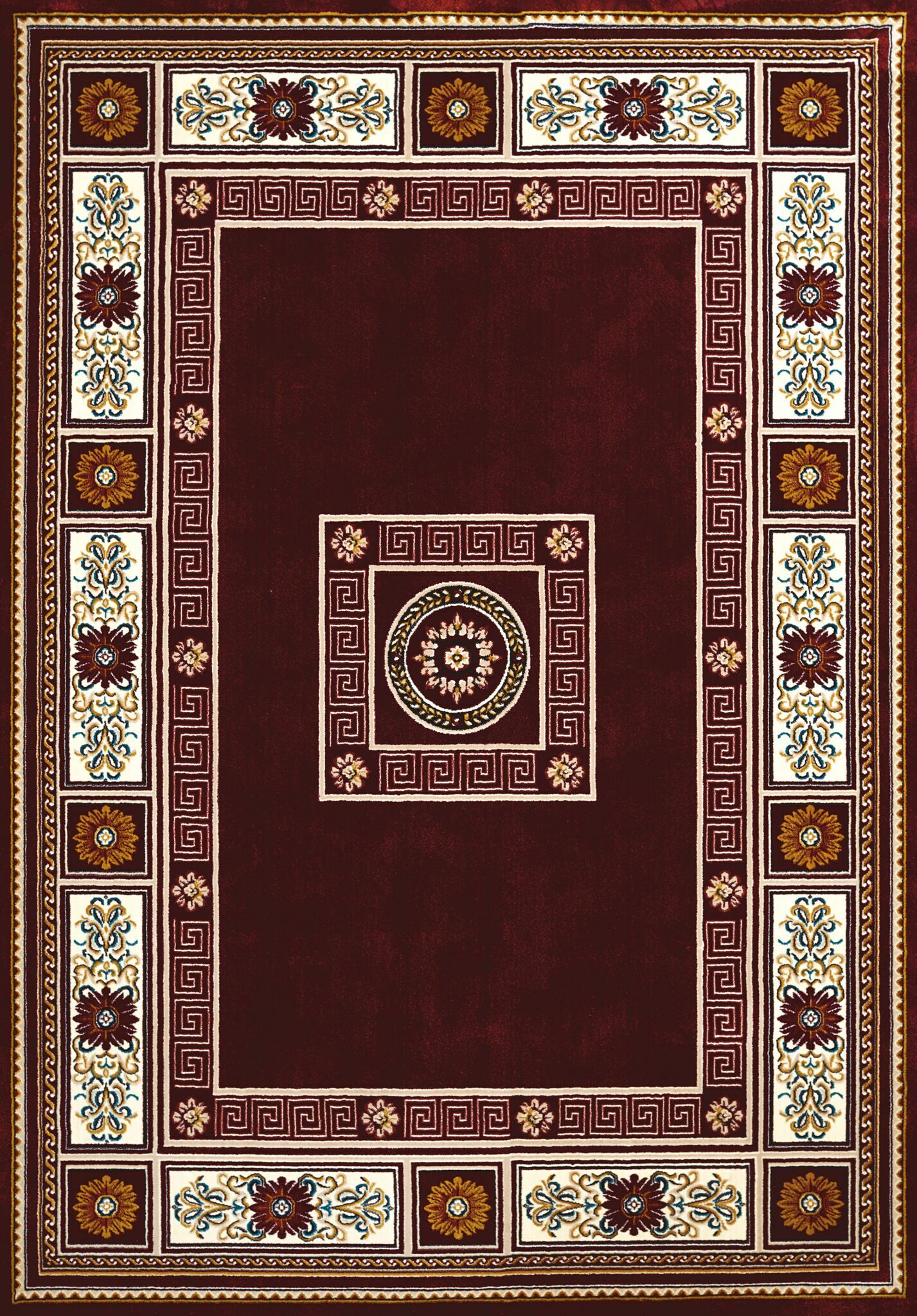 Antiquities Red/Brown Area Rug Rug Size: 5'3