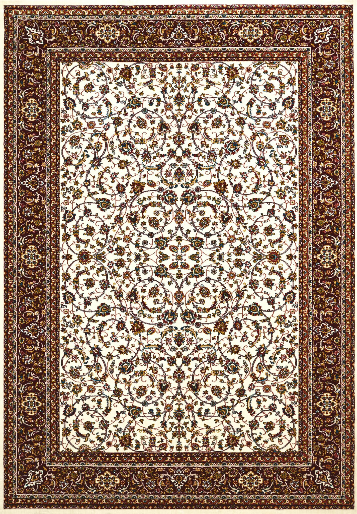 Antiquities Beige/Red Area Rug Rug Size: 5'3