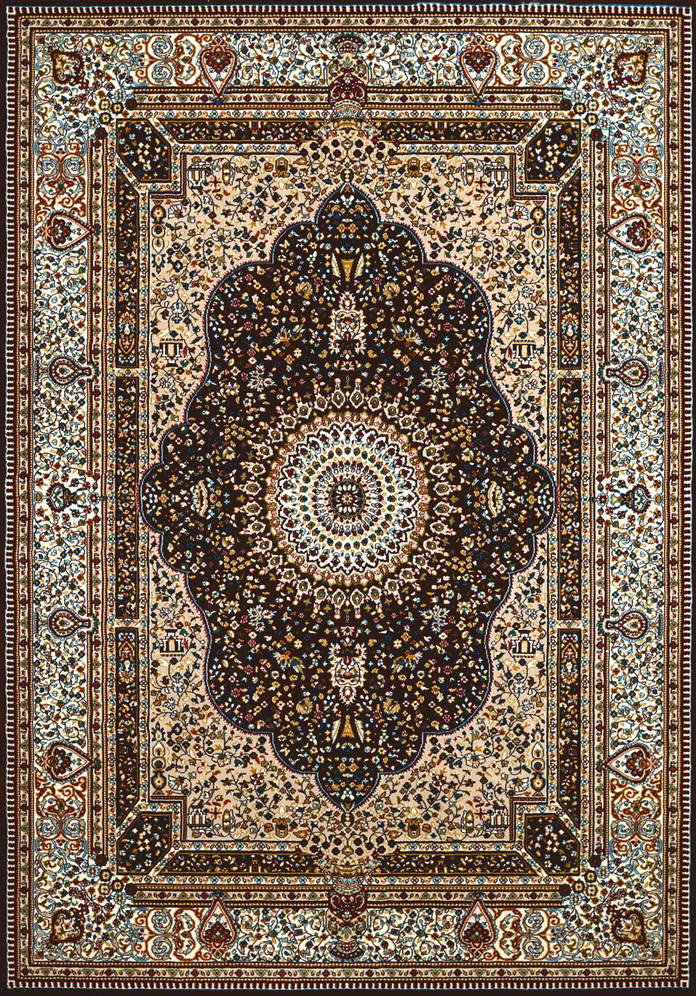 Antiquities Dark Brown Area Rug Rug Size: 7'10