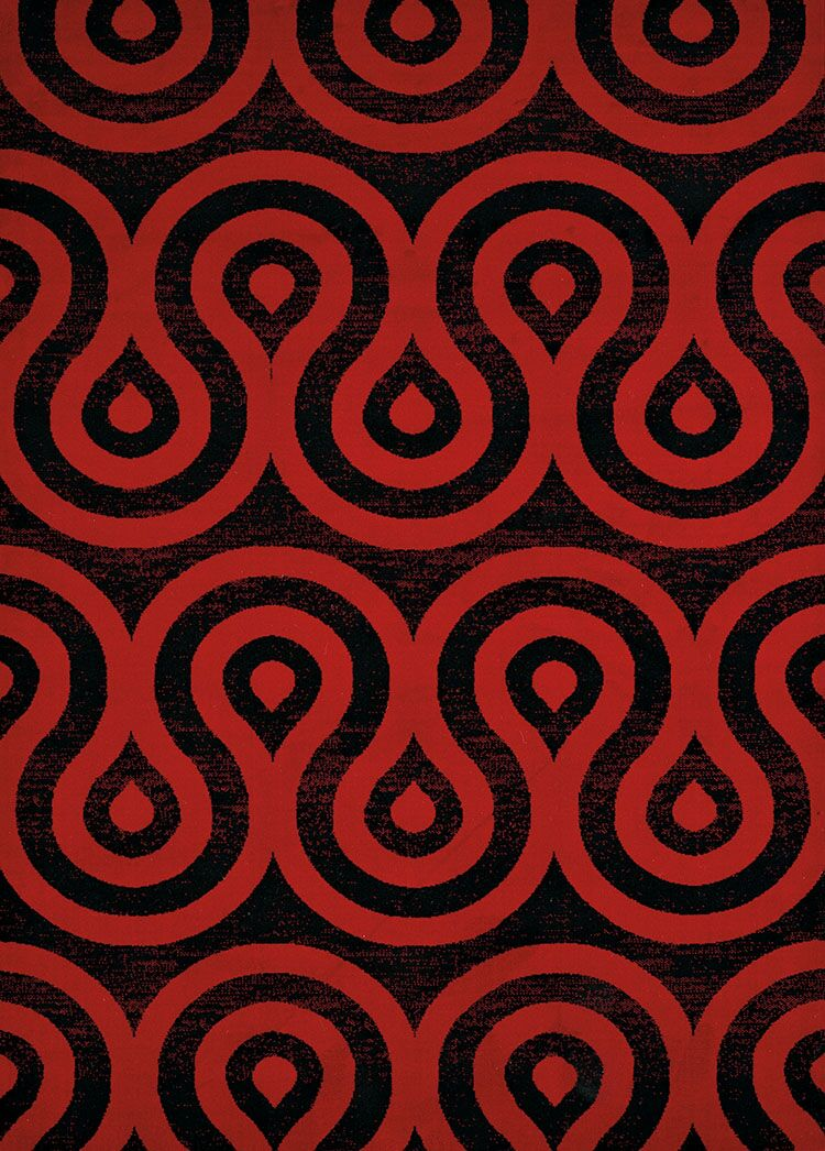 Partlow Red/Black Area Rug Rug Size: Rectangle 7'10