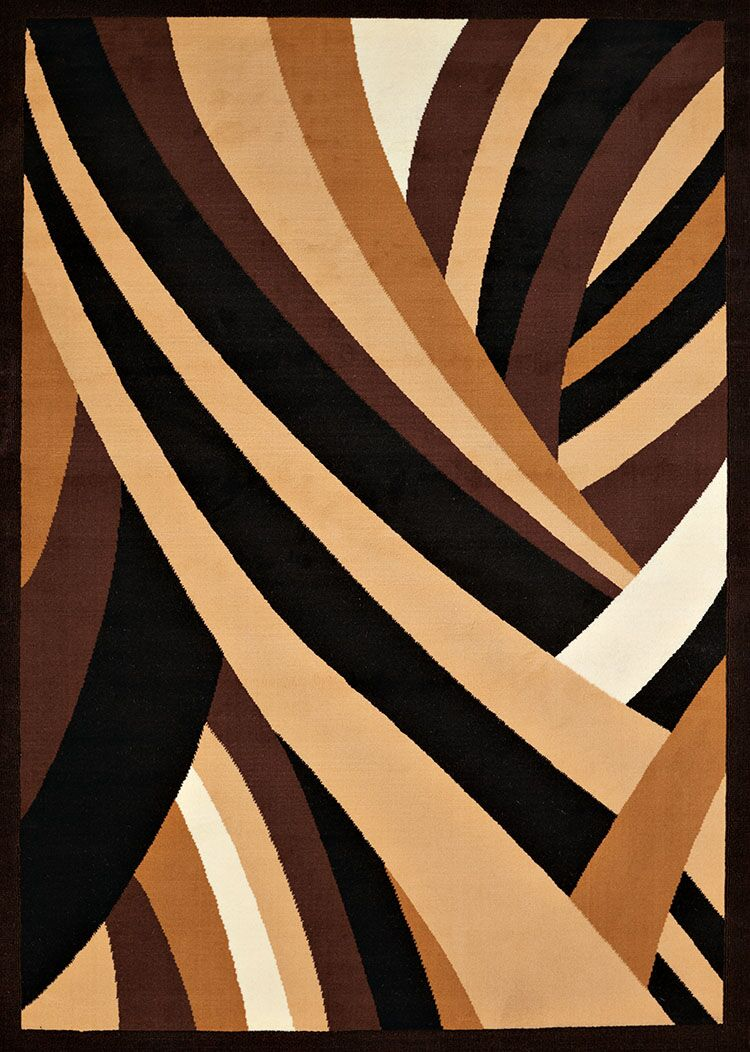 Eloise Brown/Black Area Rug Rug Size: Rectangle 7'10