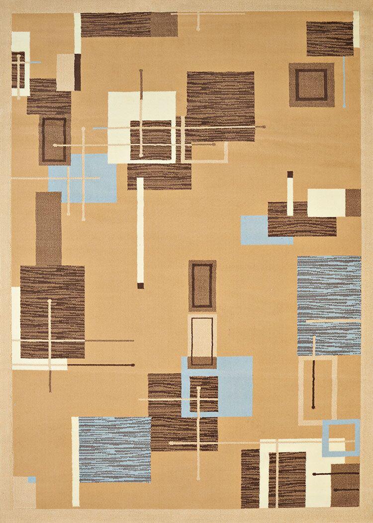 Eloise Beige/Blue Area Rug Rug Size: Rectangle 7'10