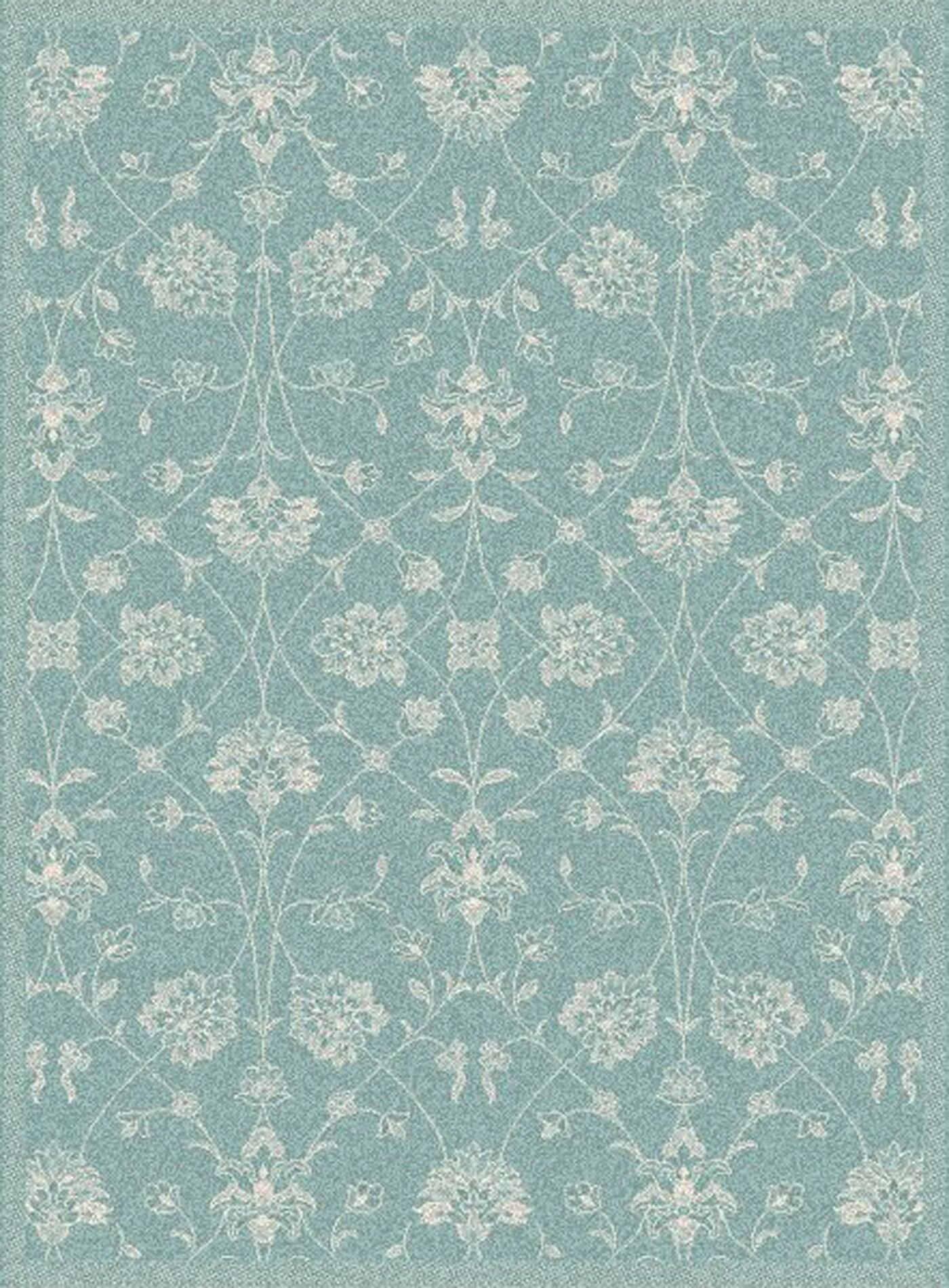 Paula Blue Floral Outdoor Area Rug Rug Size: Rectangle 3'11