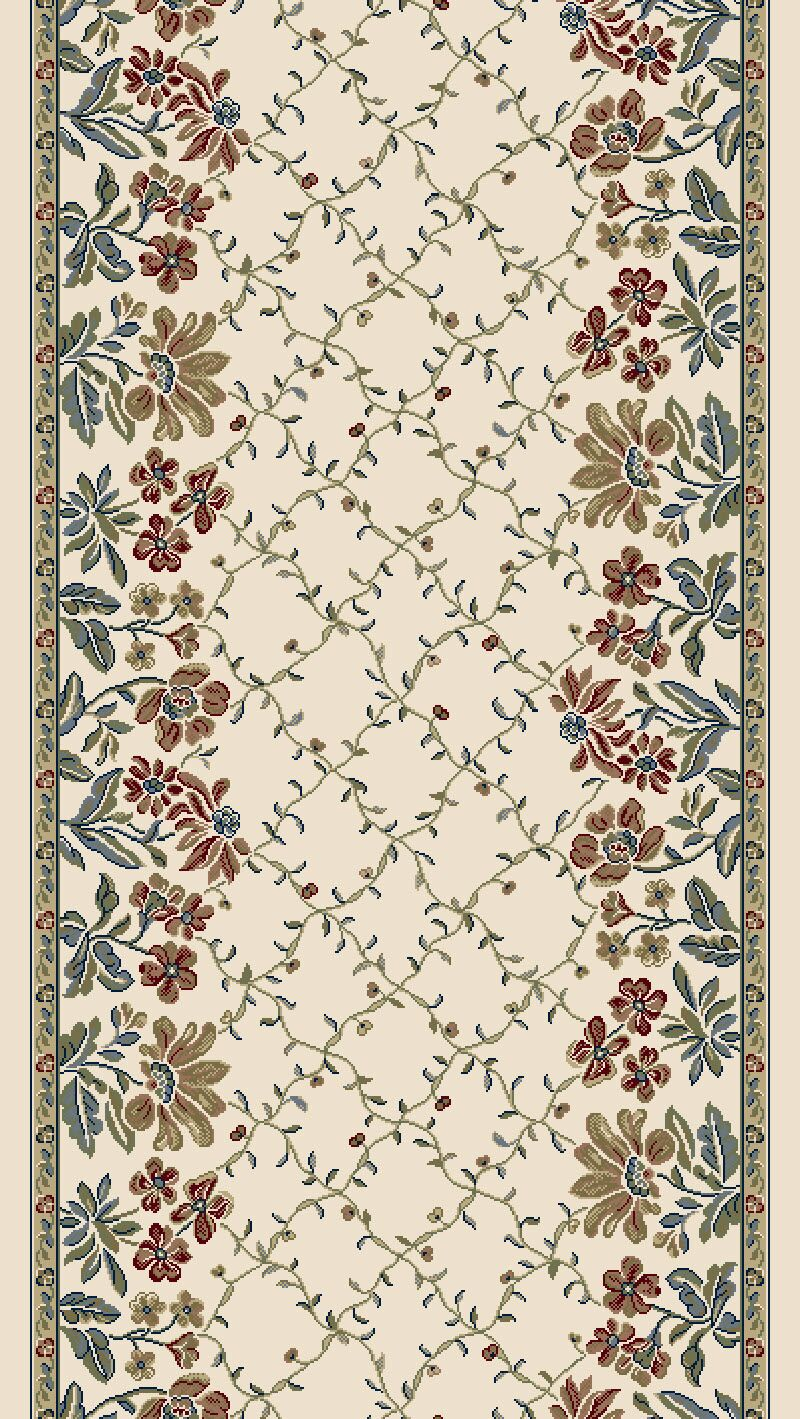 Angie Persian Ivory Area Rug Rug Size: Runner 2'2