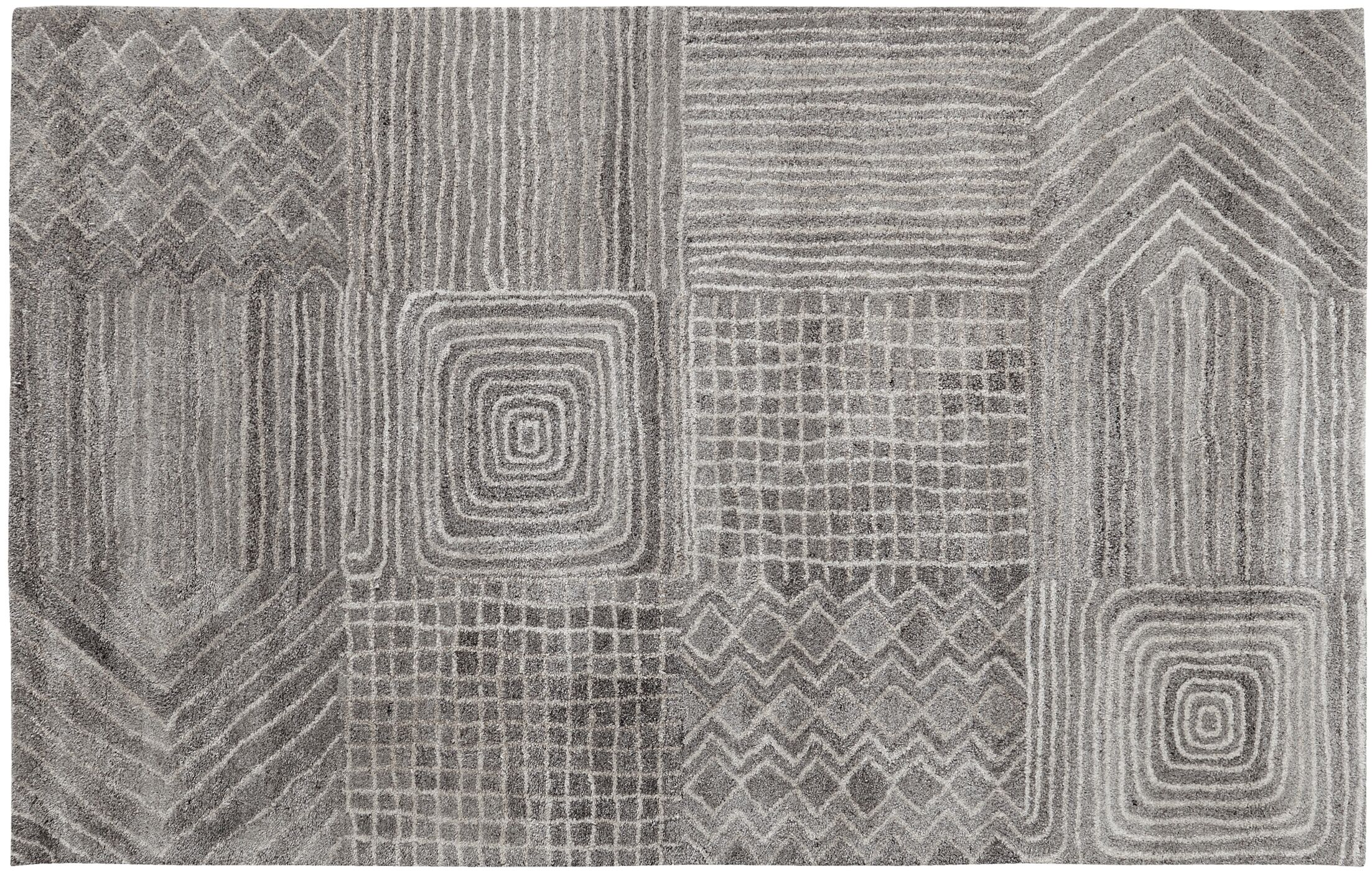 Brady Gray Area Rug Rug Size: Rectangle 8' x 11'